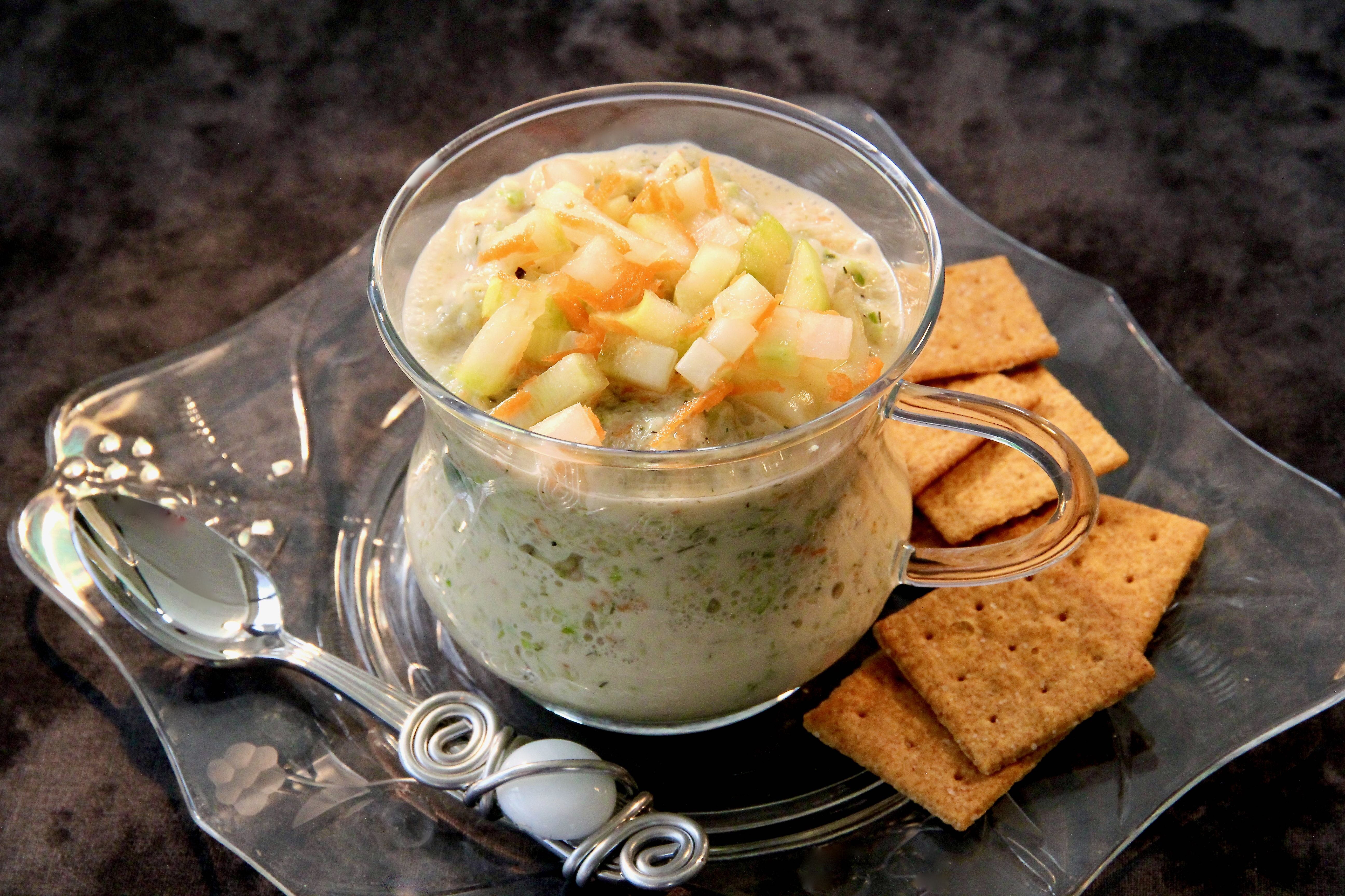 chilled cucumber dill soup recipe