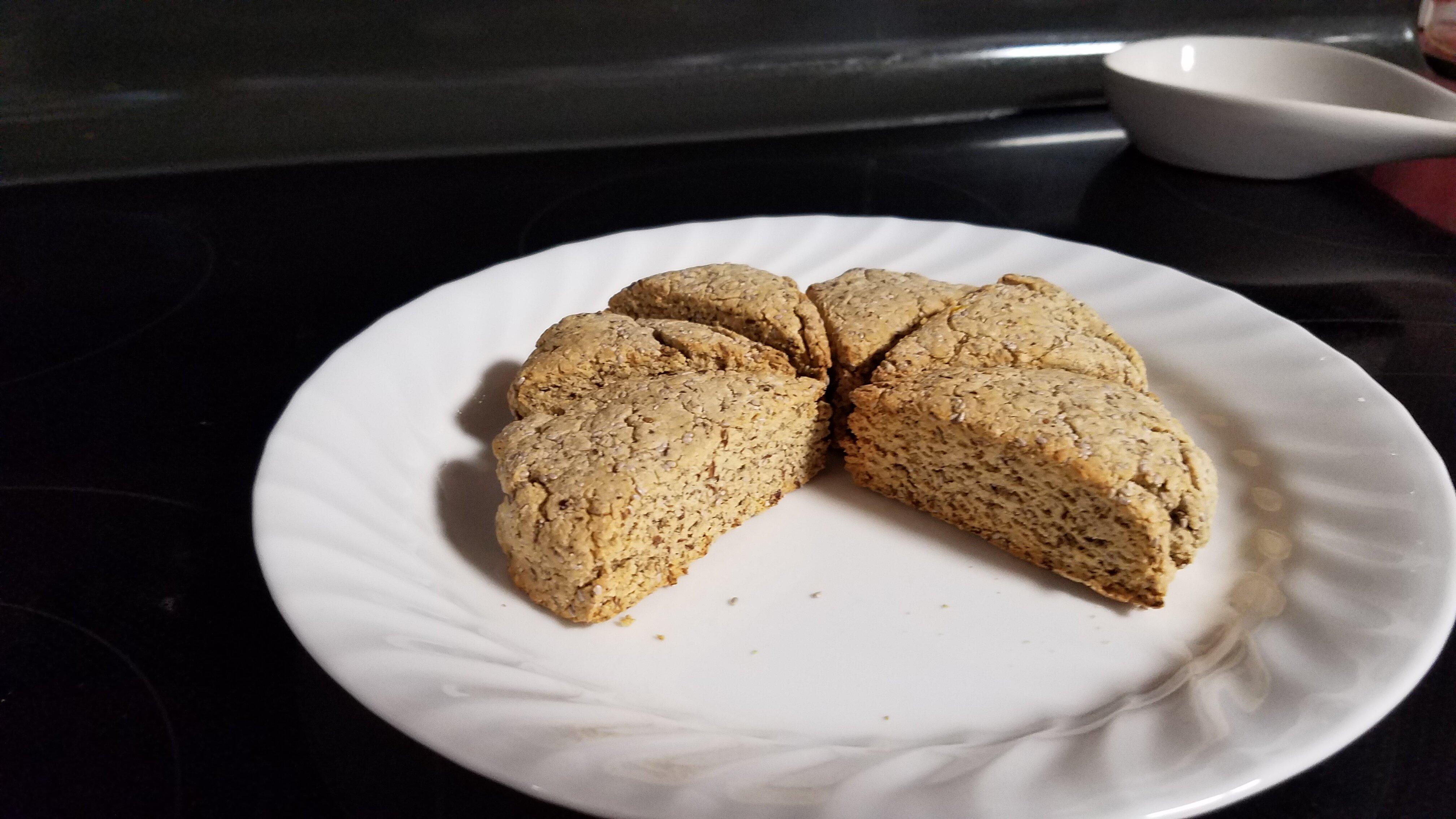 lemon poppy seed scones gluten free dairy free and vegan
