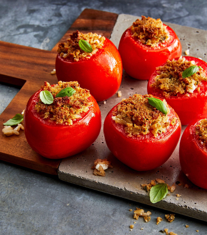 air fried italian stuffed tomatoes recipe