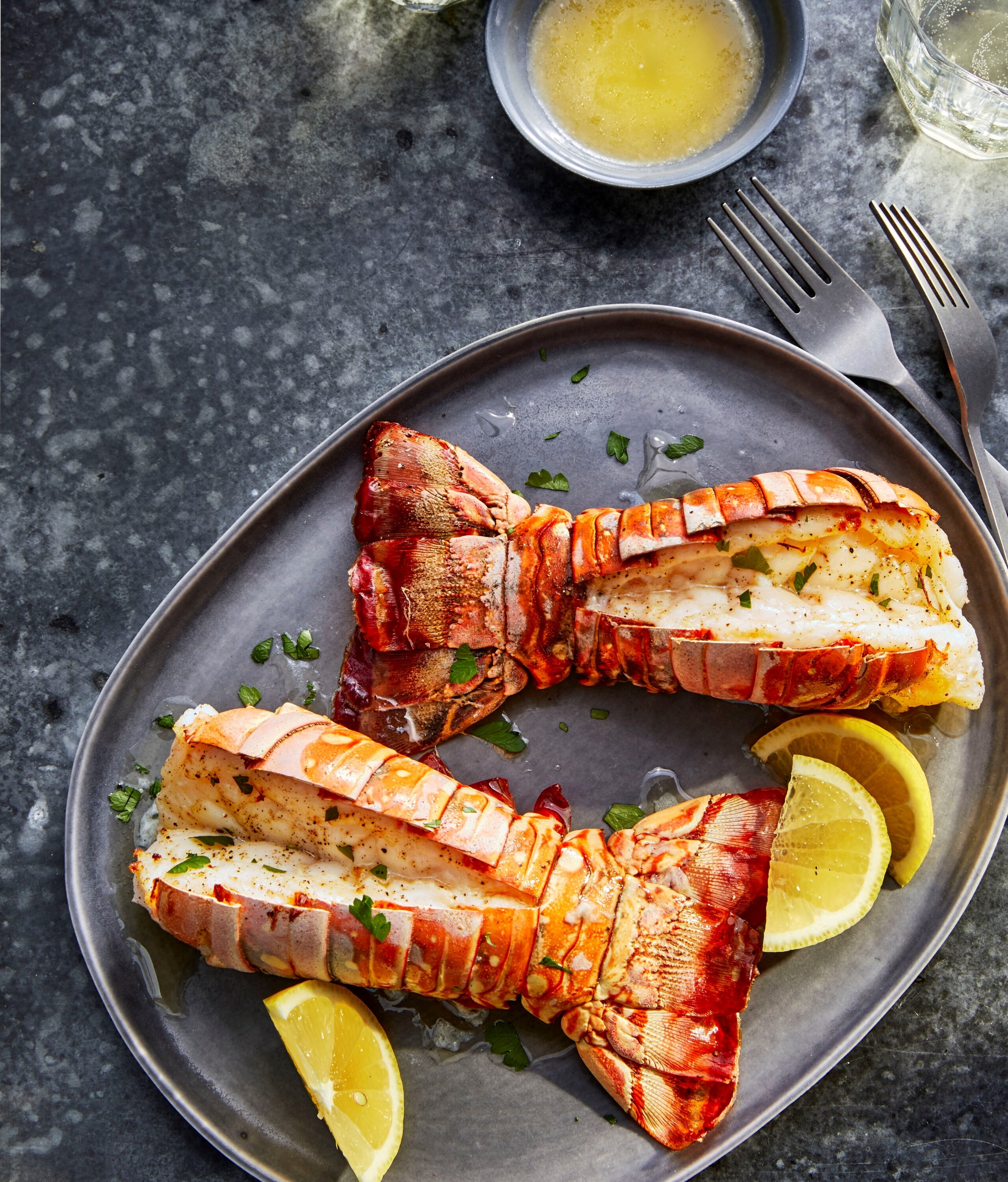 air fryer lobster tails with lemon garlic butter recipe