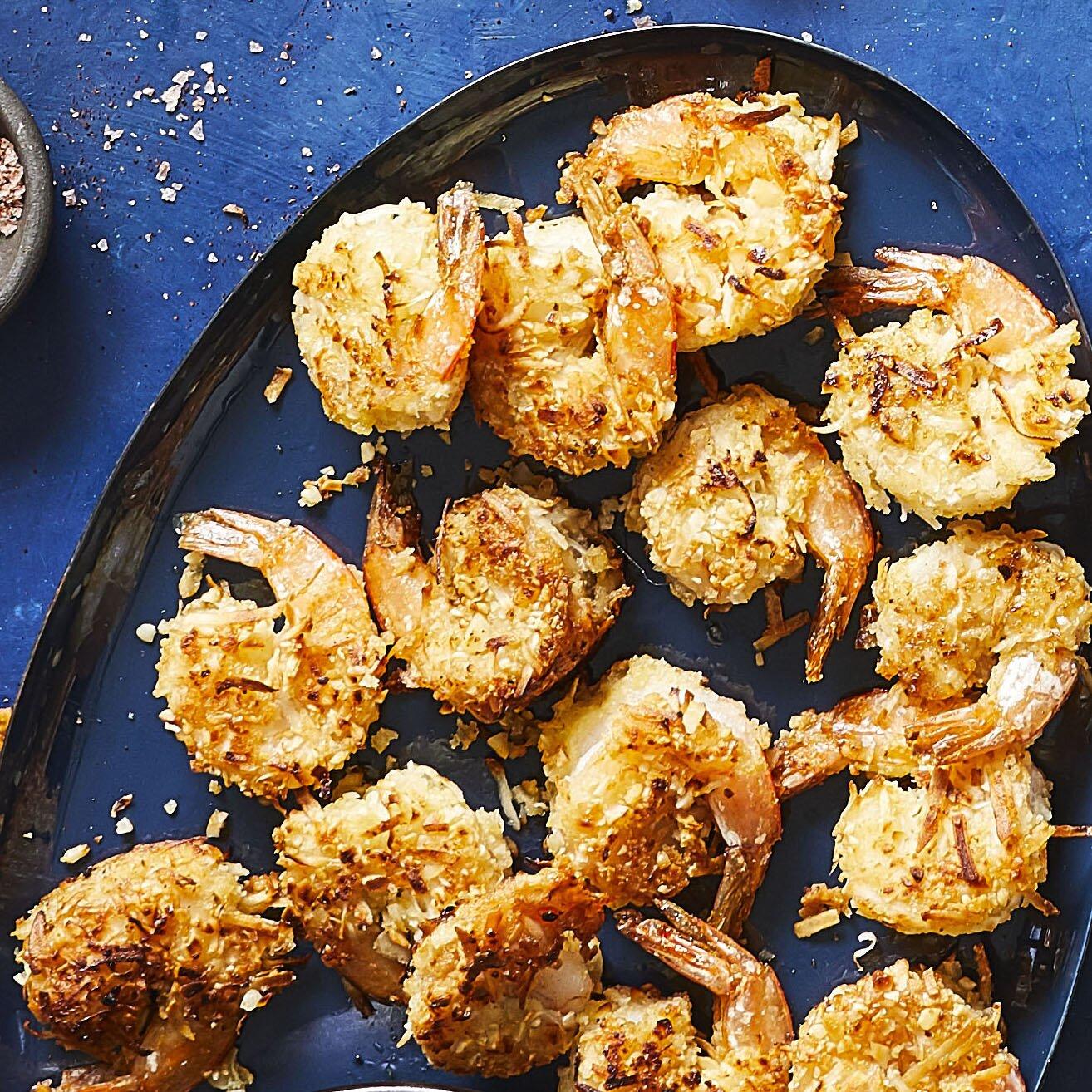 keto fried coconut shrimp