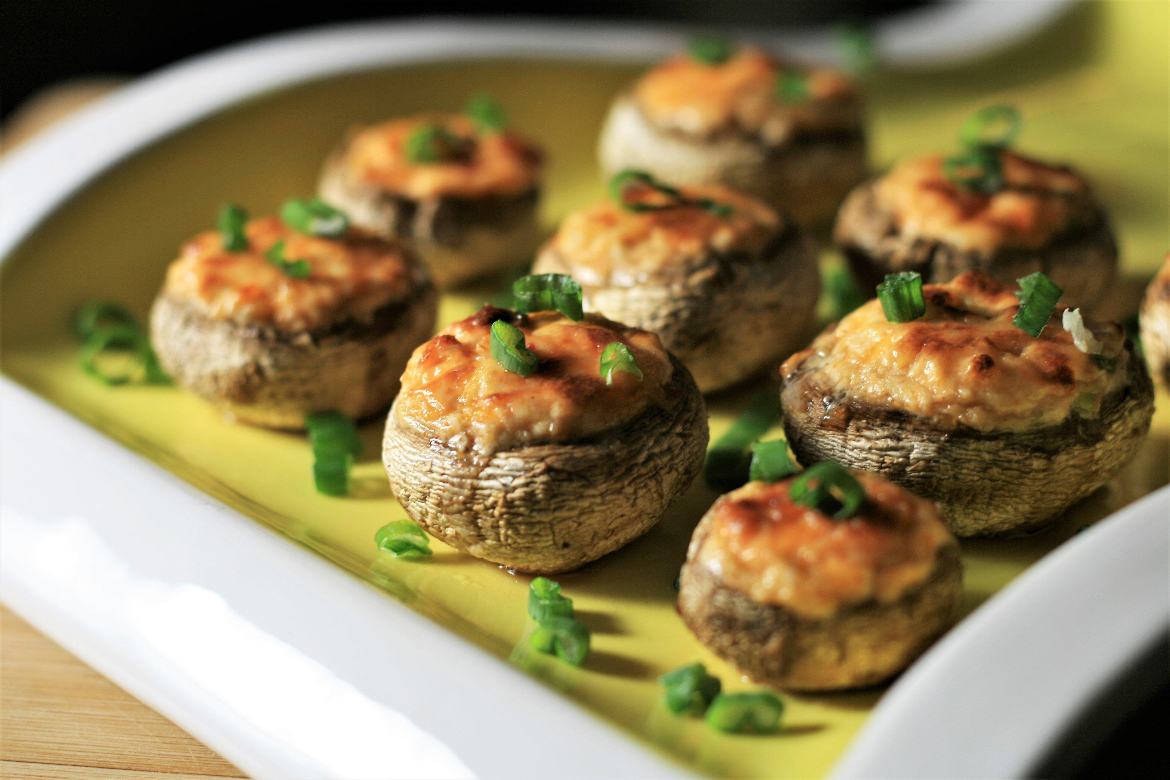 air fryer stuffed mushrooms recipe