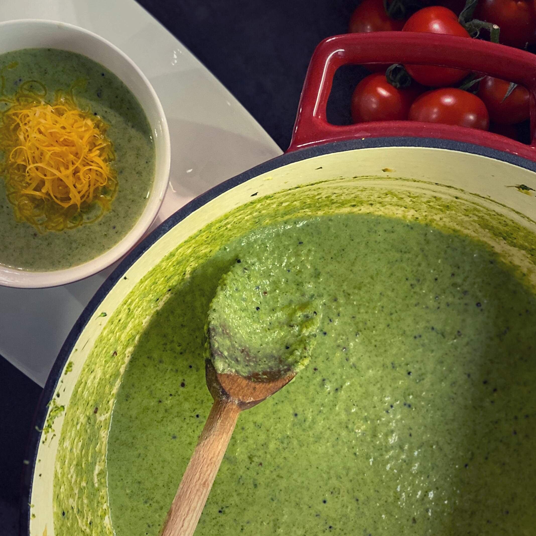 spinach broccoli soup recipe