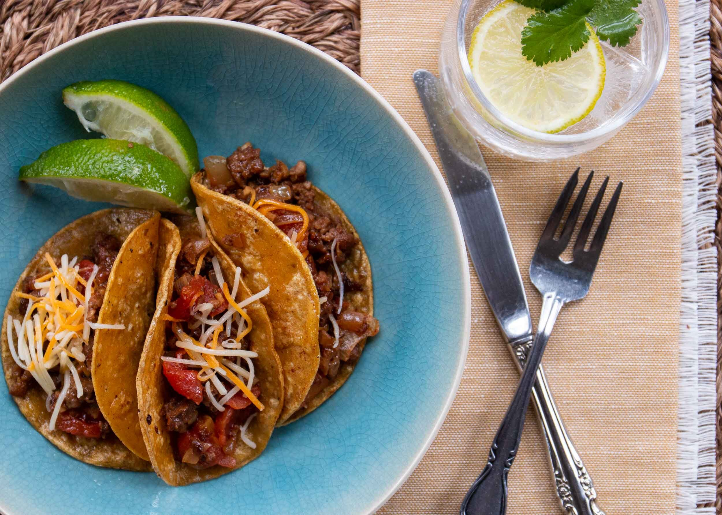 southwestern flavored ground beef or turkey for tacos salad