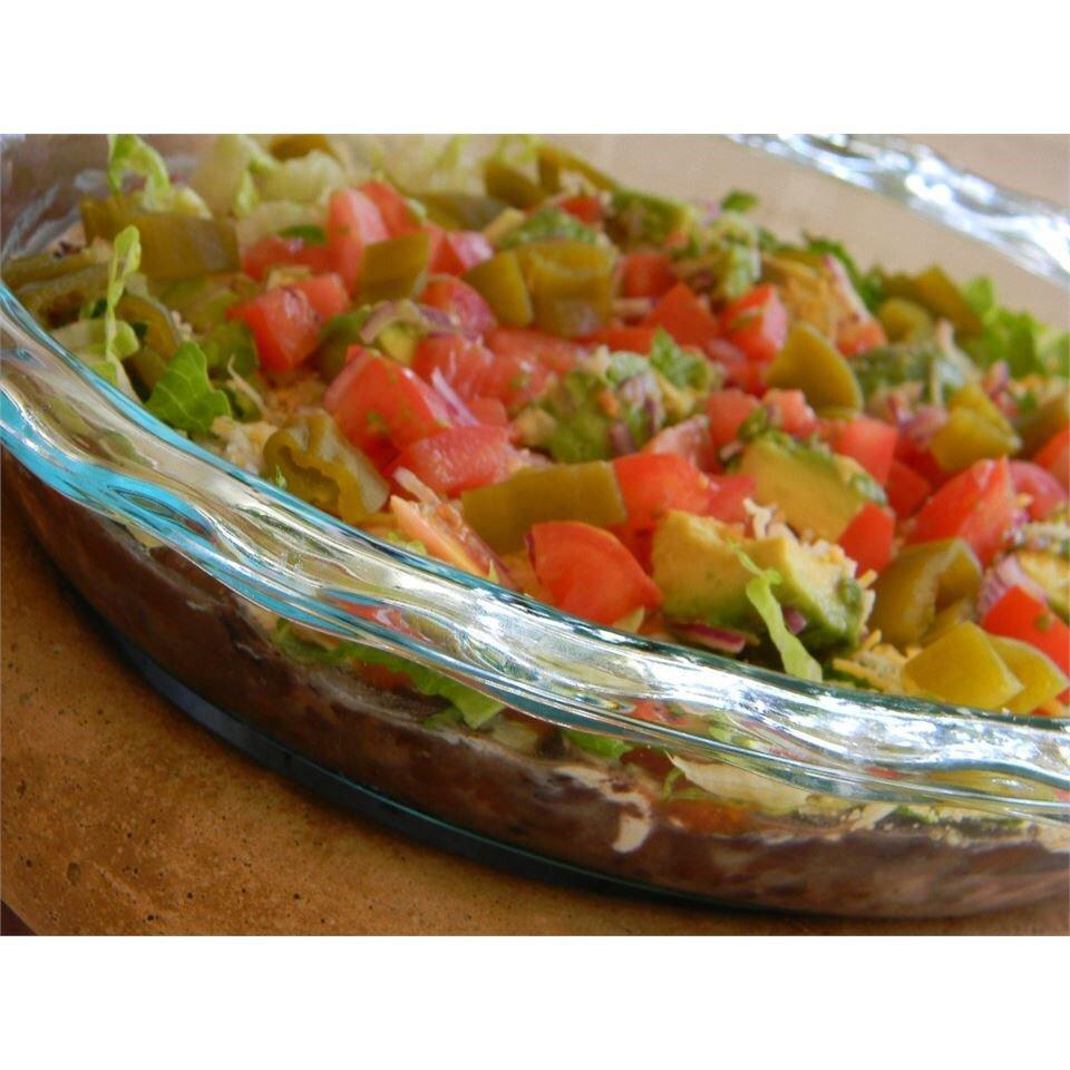 mandas seven layer taco dip recipe