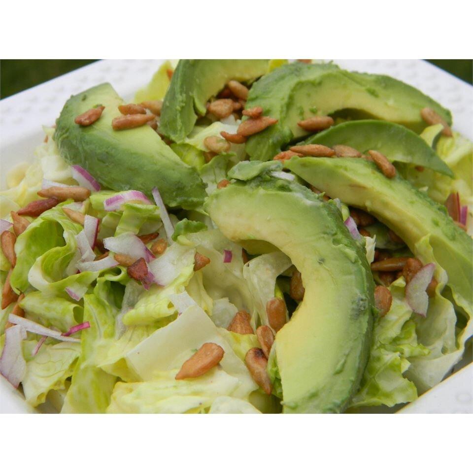 lettuce avocado and sunflower seed salad recipe