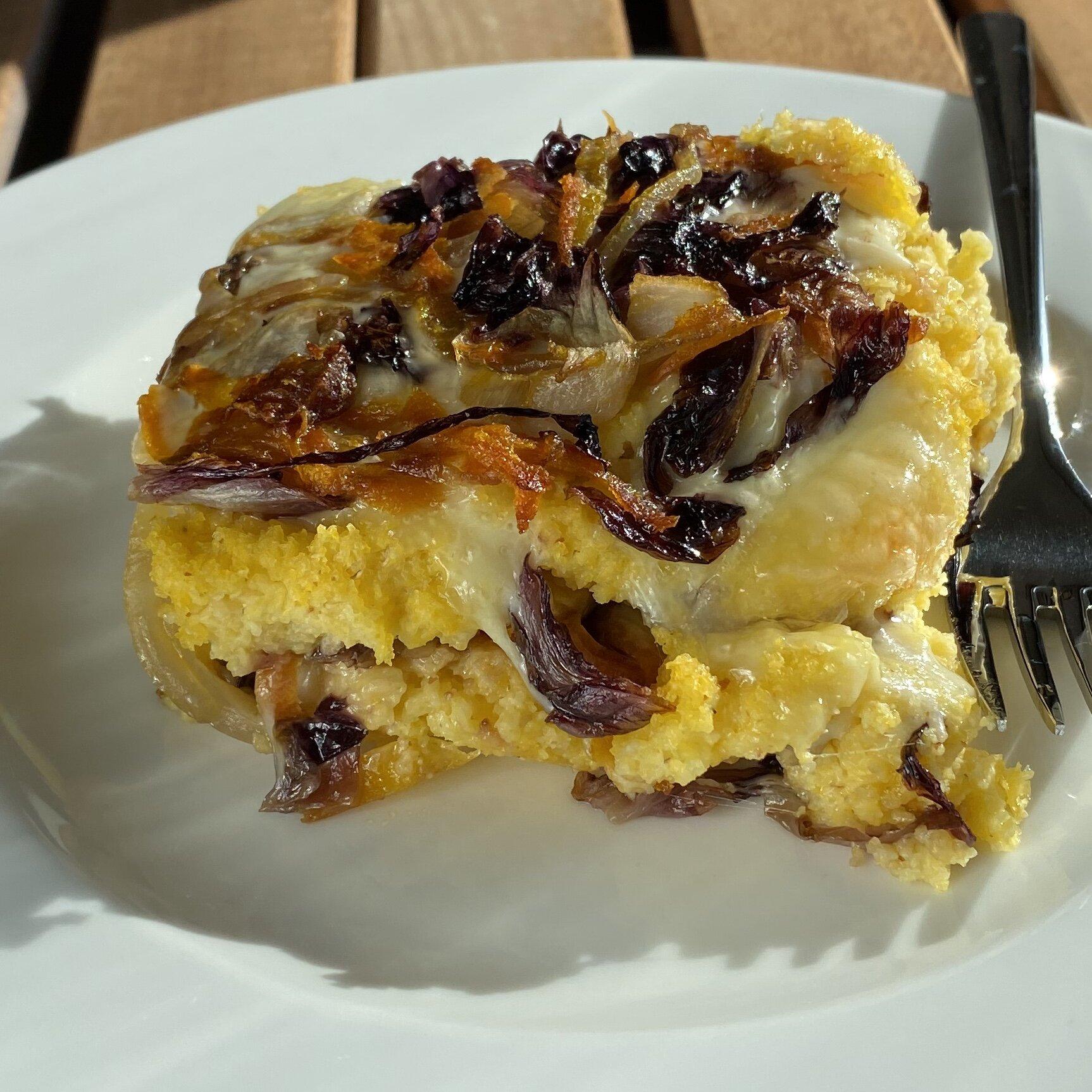 vegan baked polenta with radicchio recipe