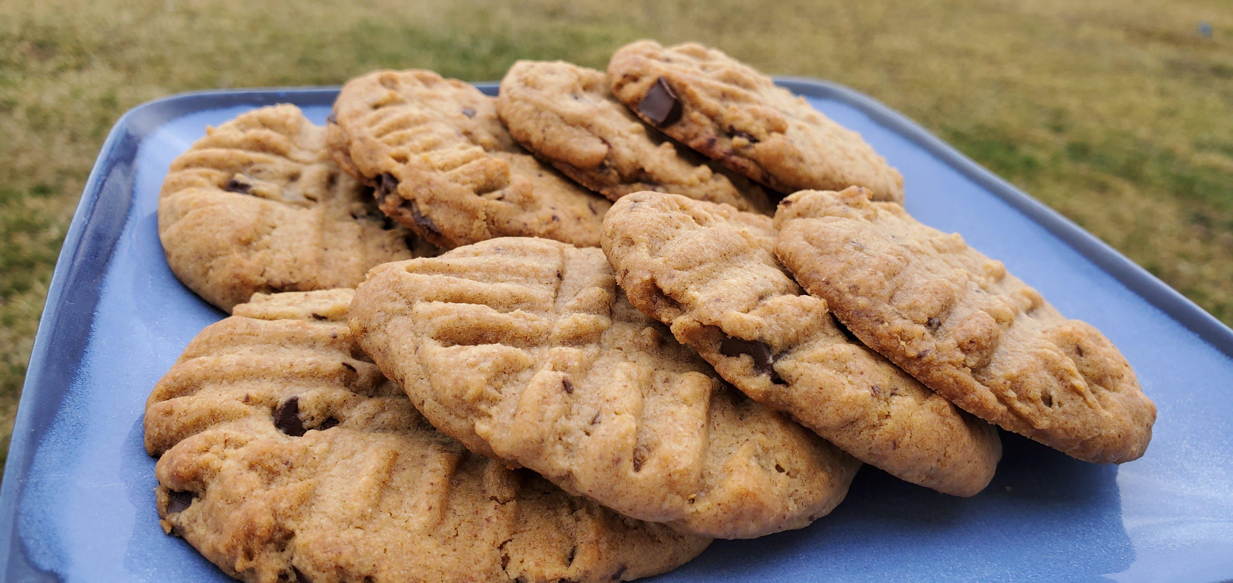 vegan chocolate almond butter cookies recipe