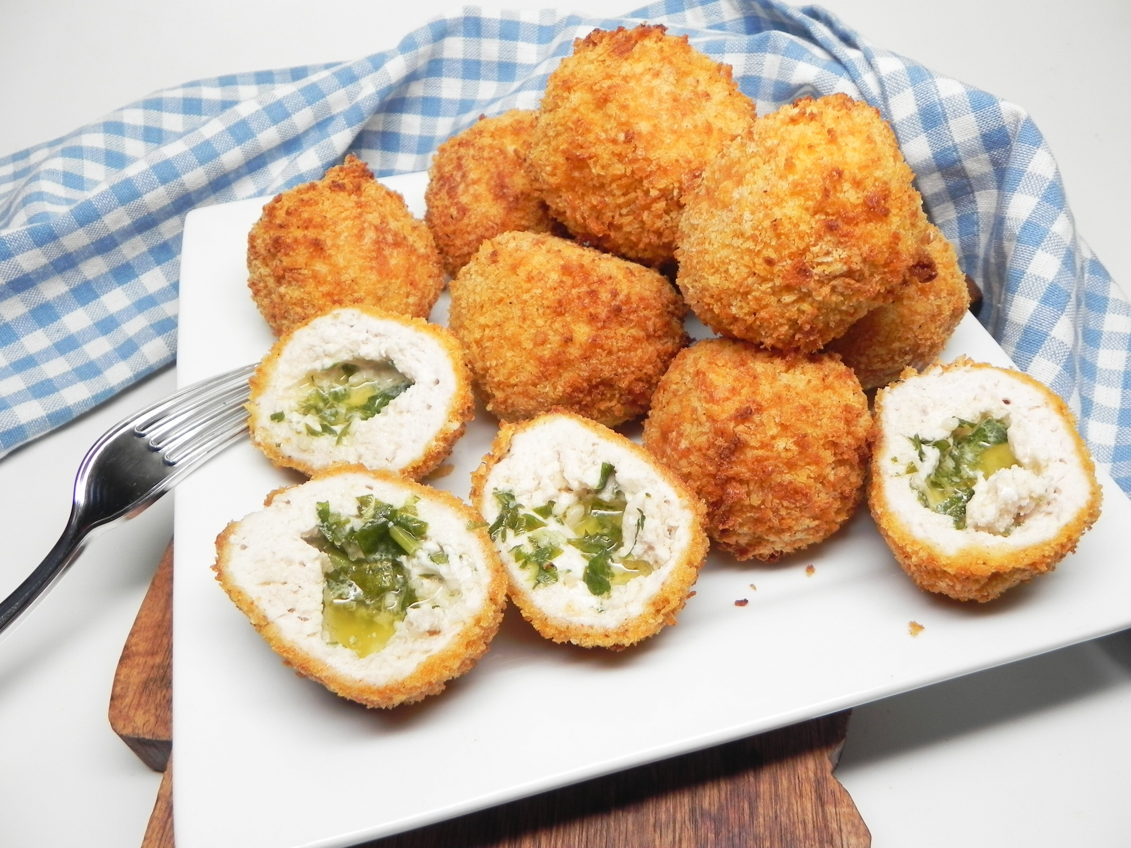 air fryer chicken kiev balls recipe