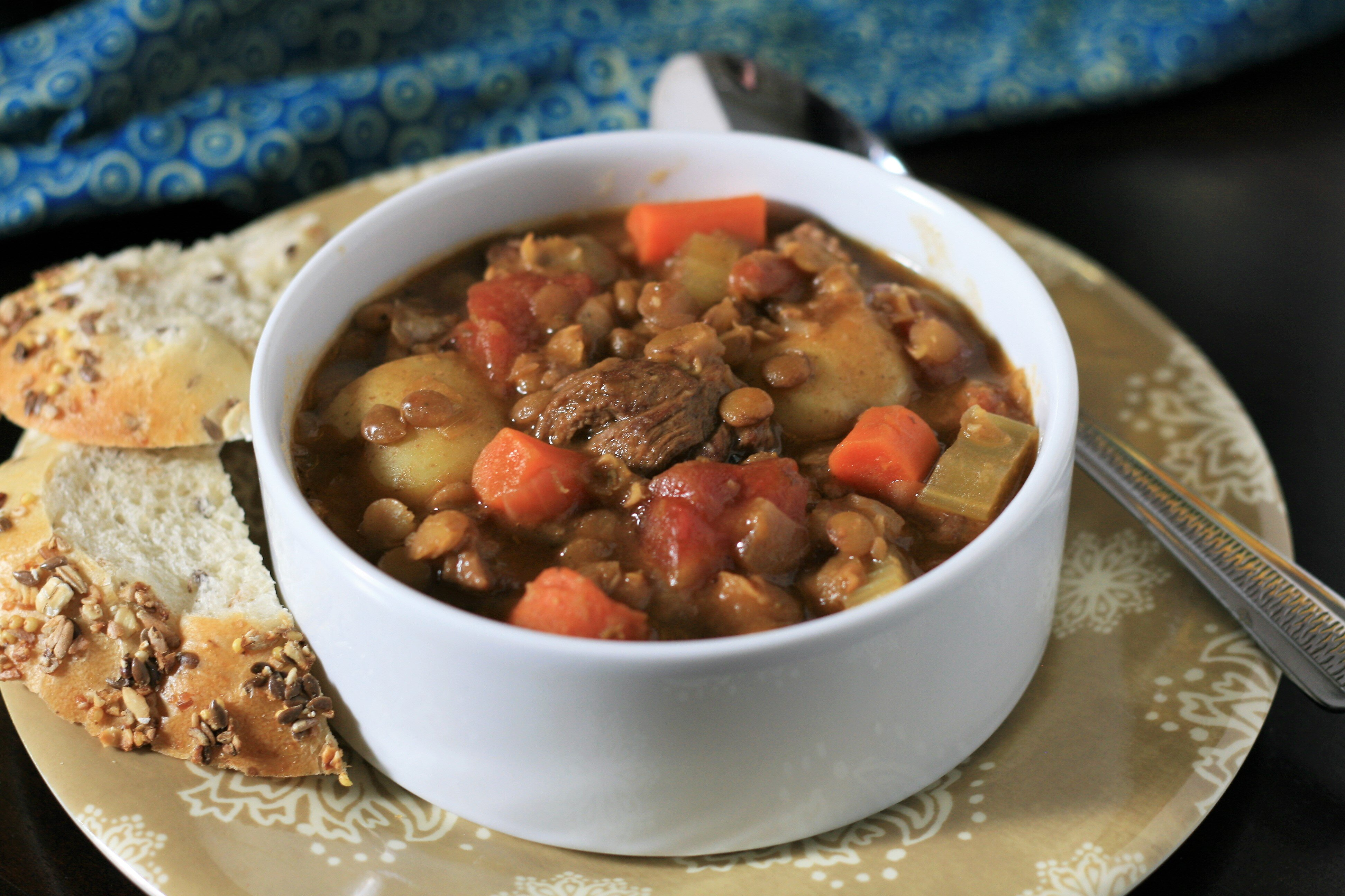 beef and lentil stew recipe