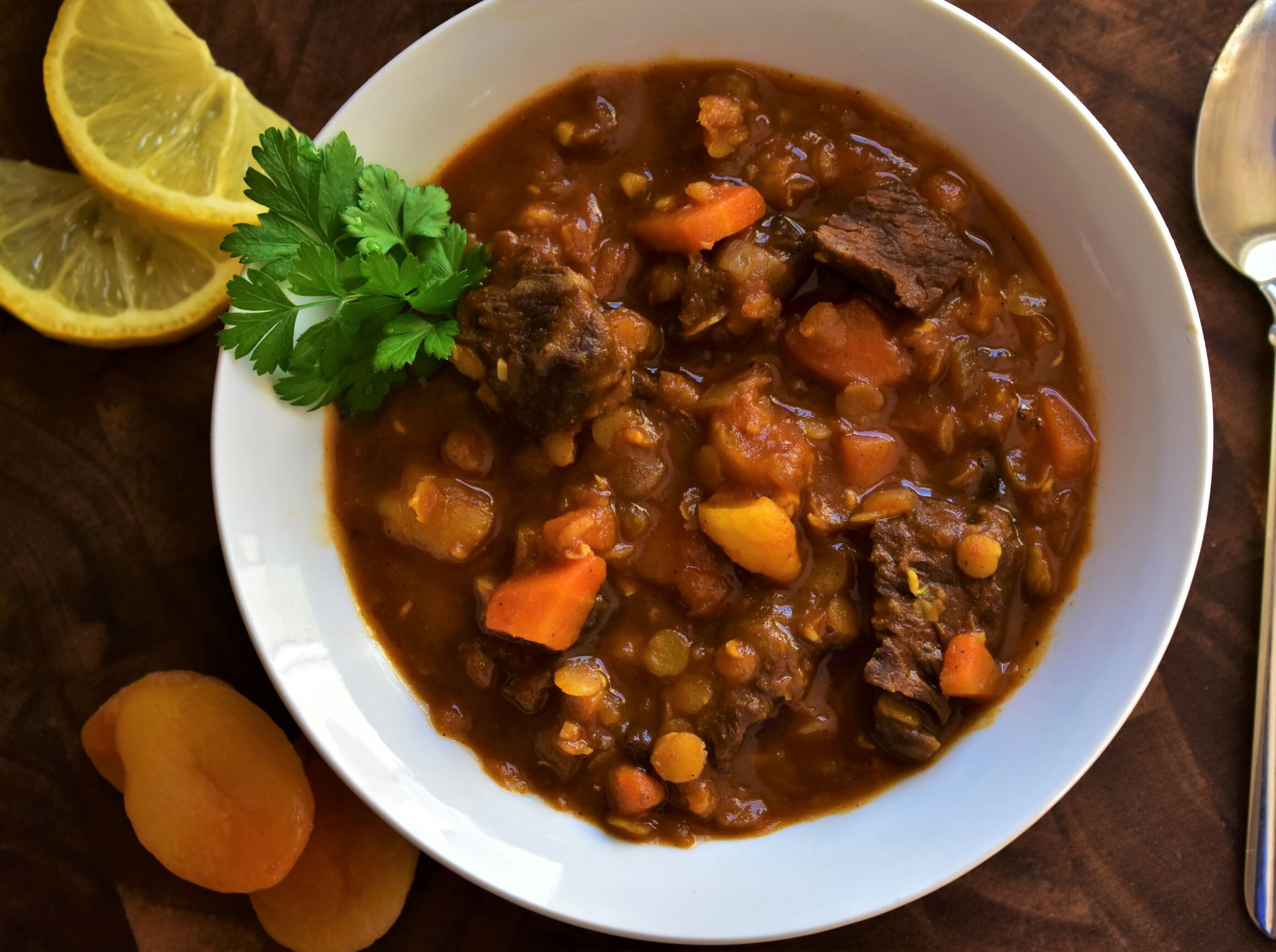 moroccan beef and lentil stew recipe