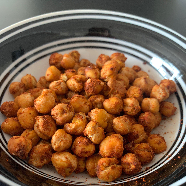 spiced air fried chickpeas recipe
