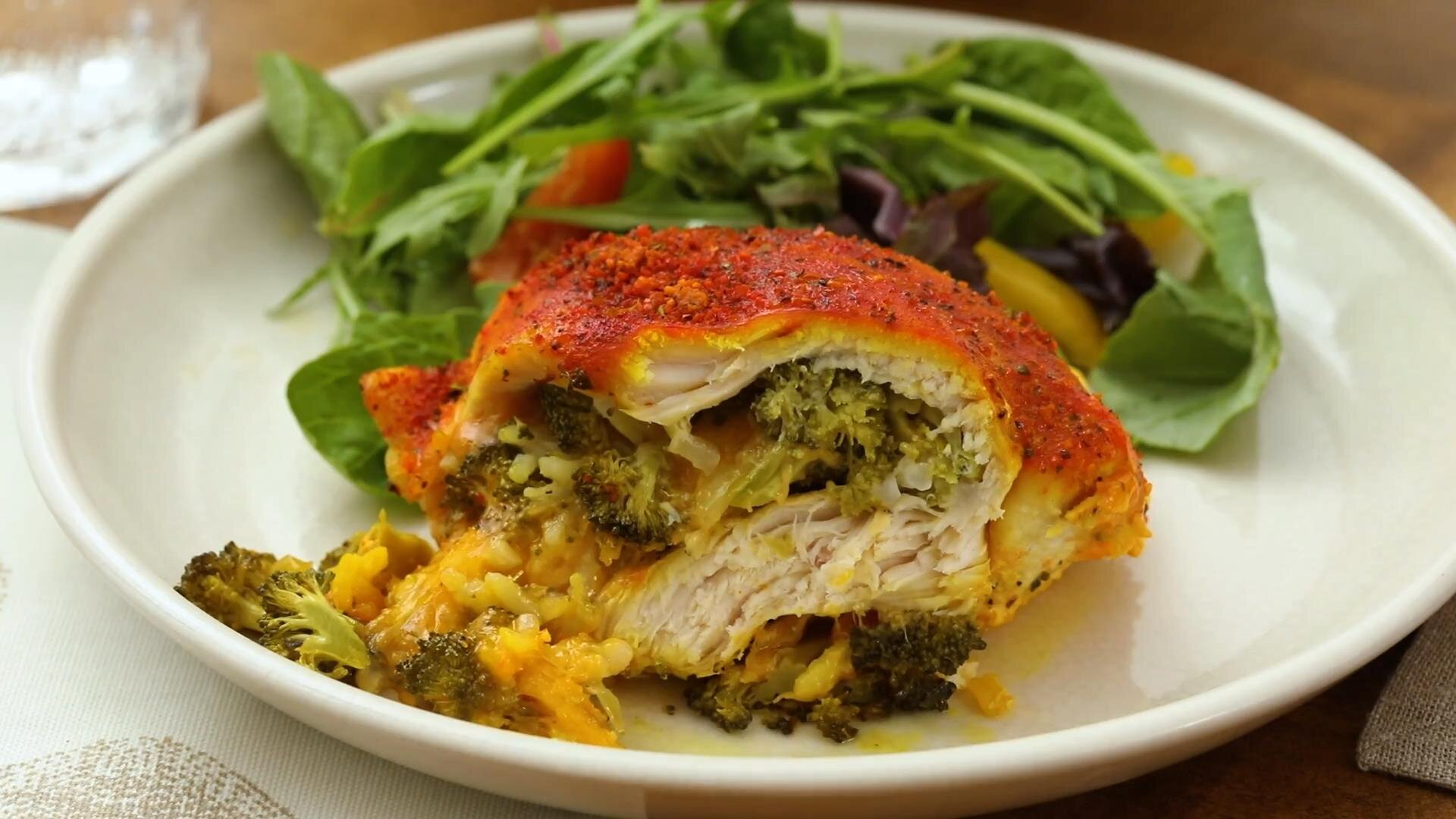 cheesy broccoli stuffed chicken breasts recipe