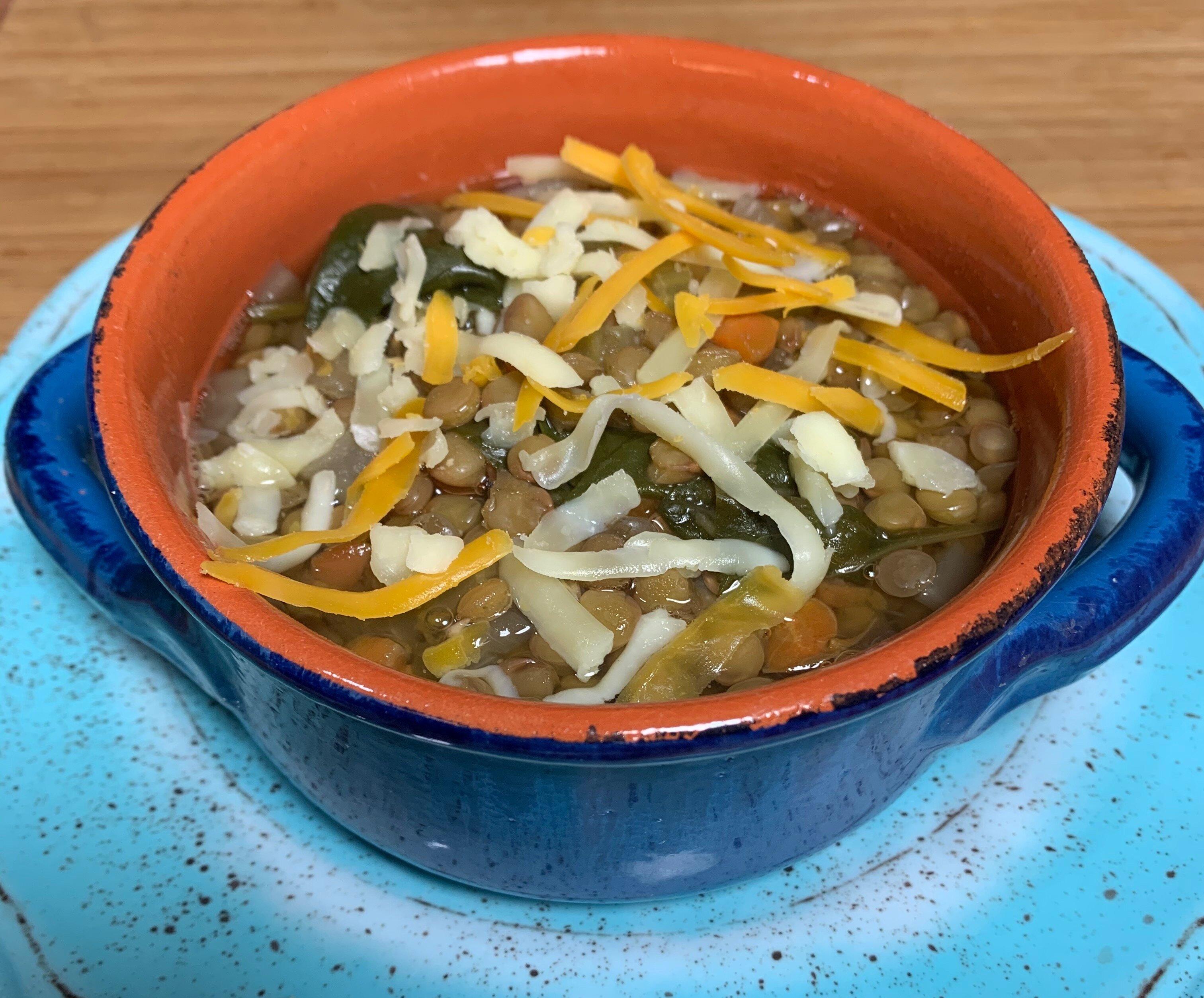 easy weeknight lentil soup recipe