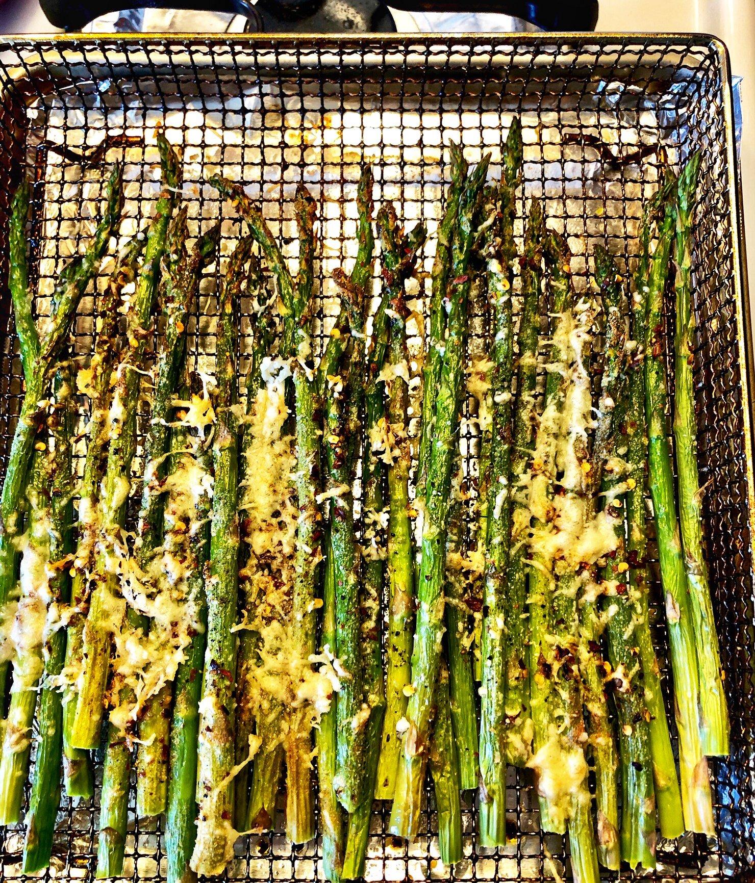 air fryer roasted asparagus recipe