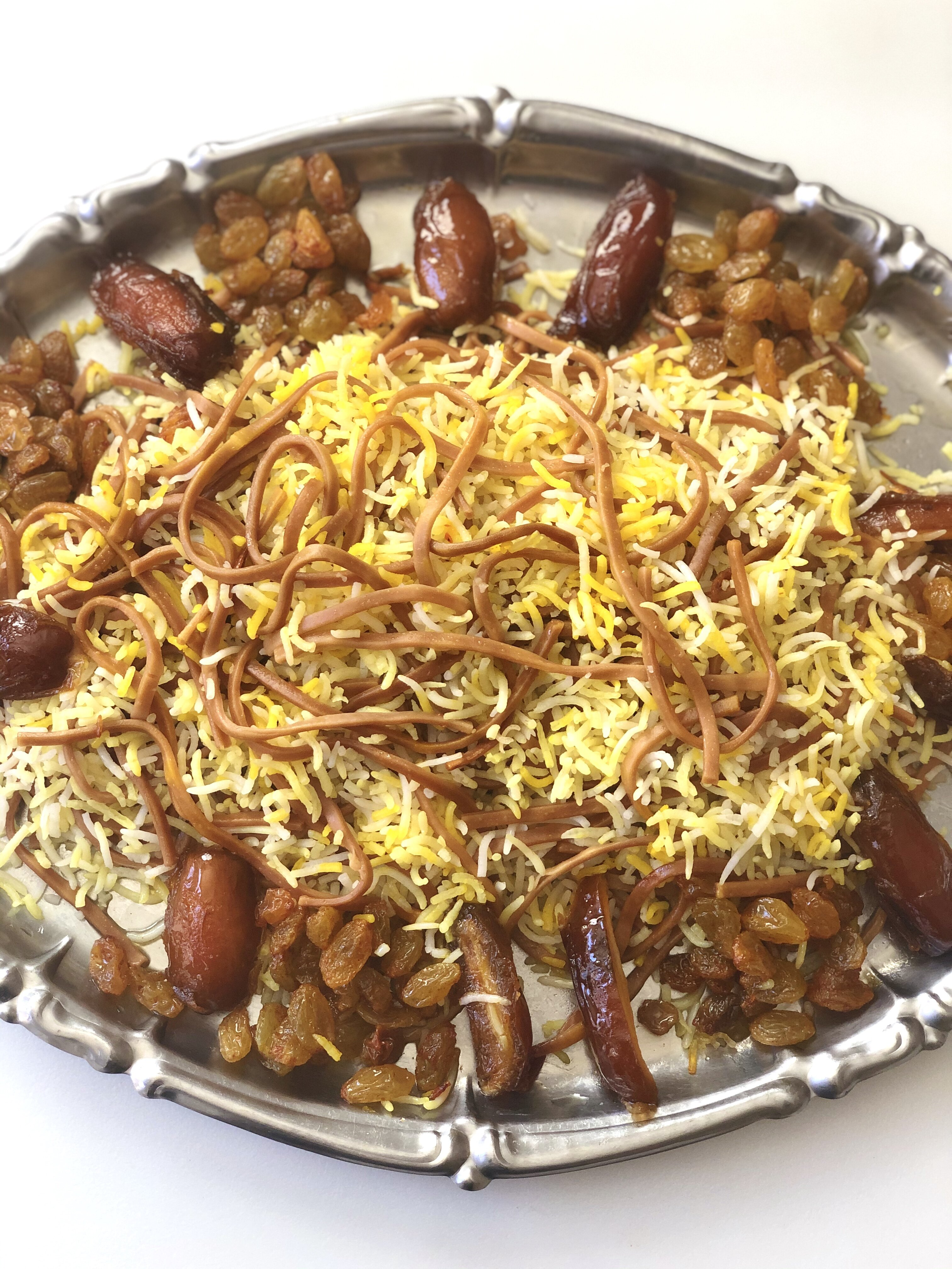 reshteh polo persian noodle rice recipe