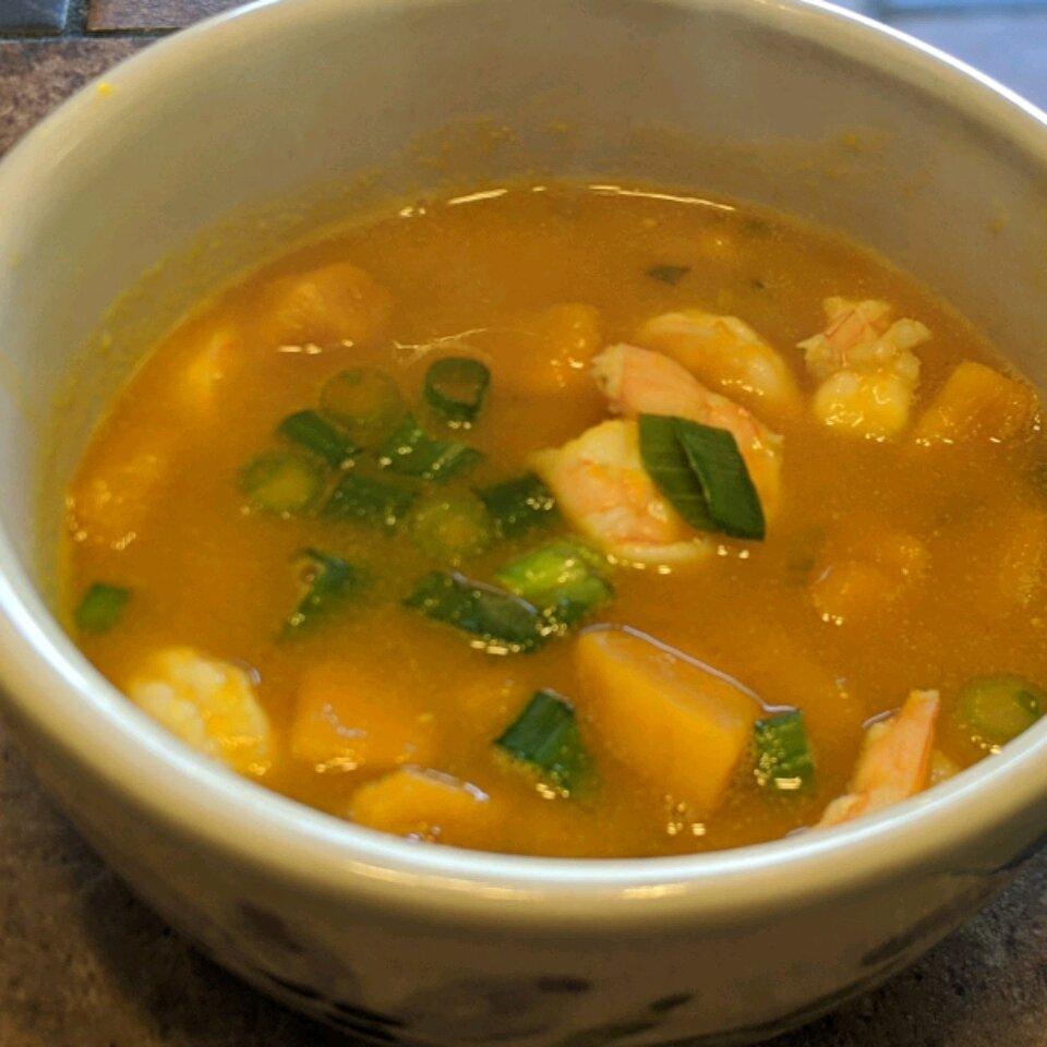 kabocha squash and shrimp soup recipe