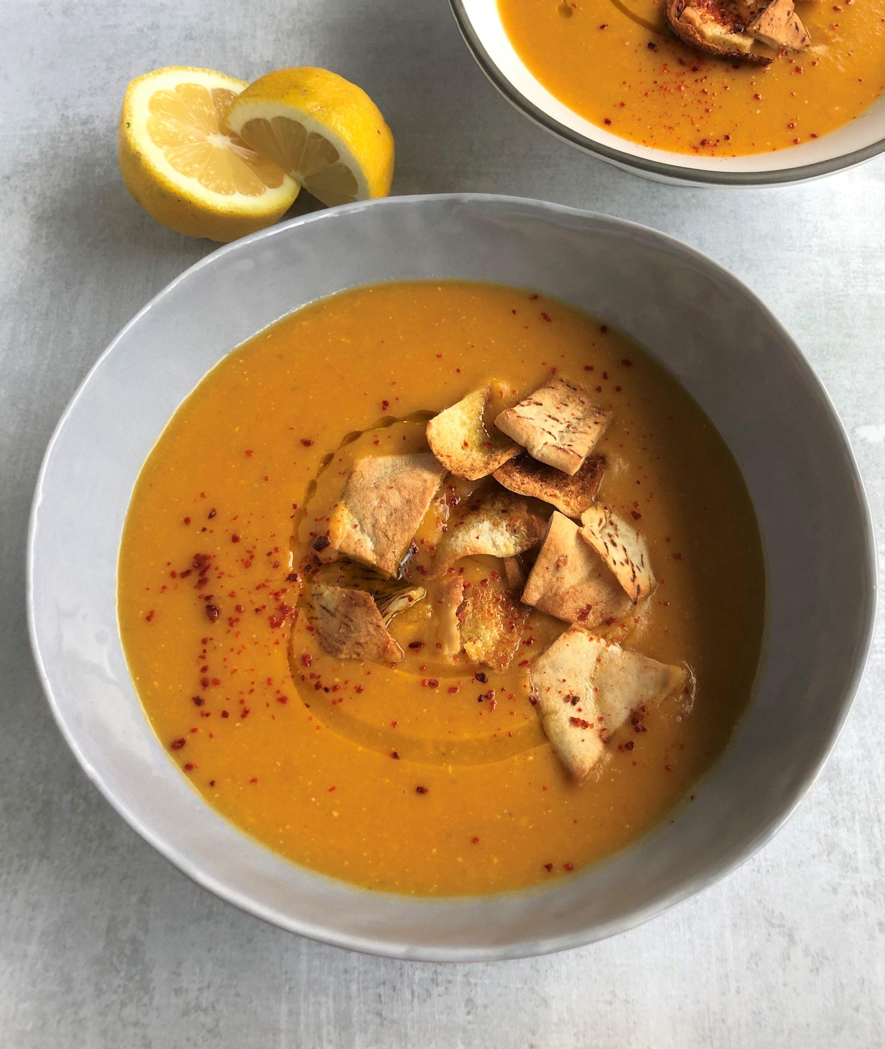 instant pot lebanese lentil soup shorbat adas recipe
