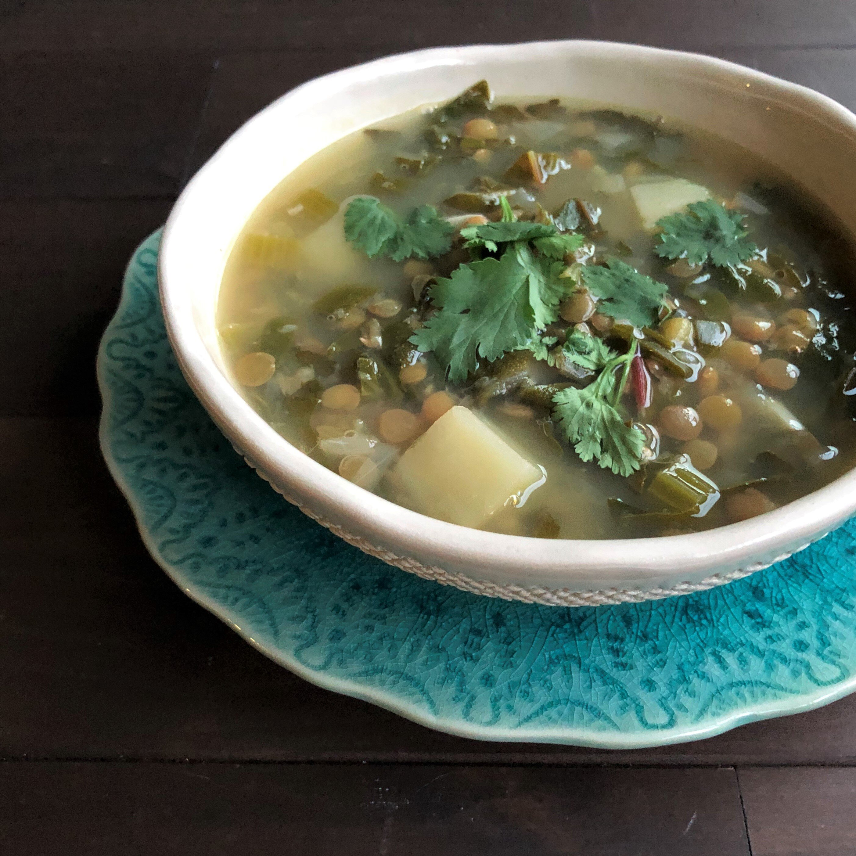 instant pot lebanese lentil and chard soup recipe
