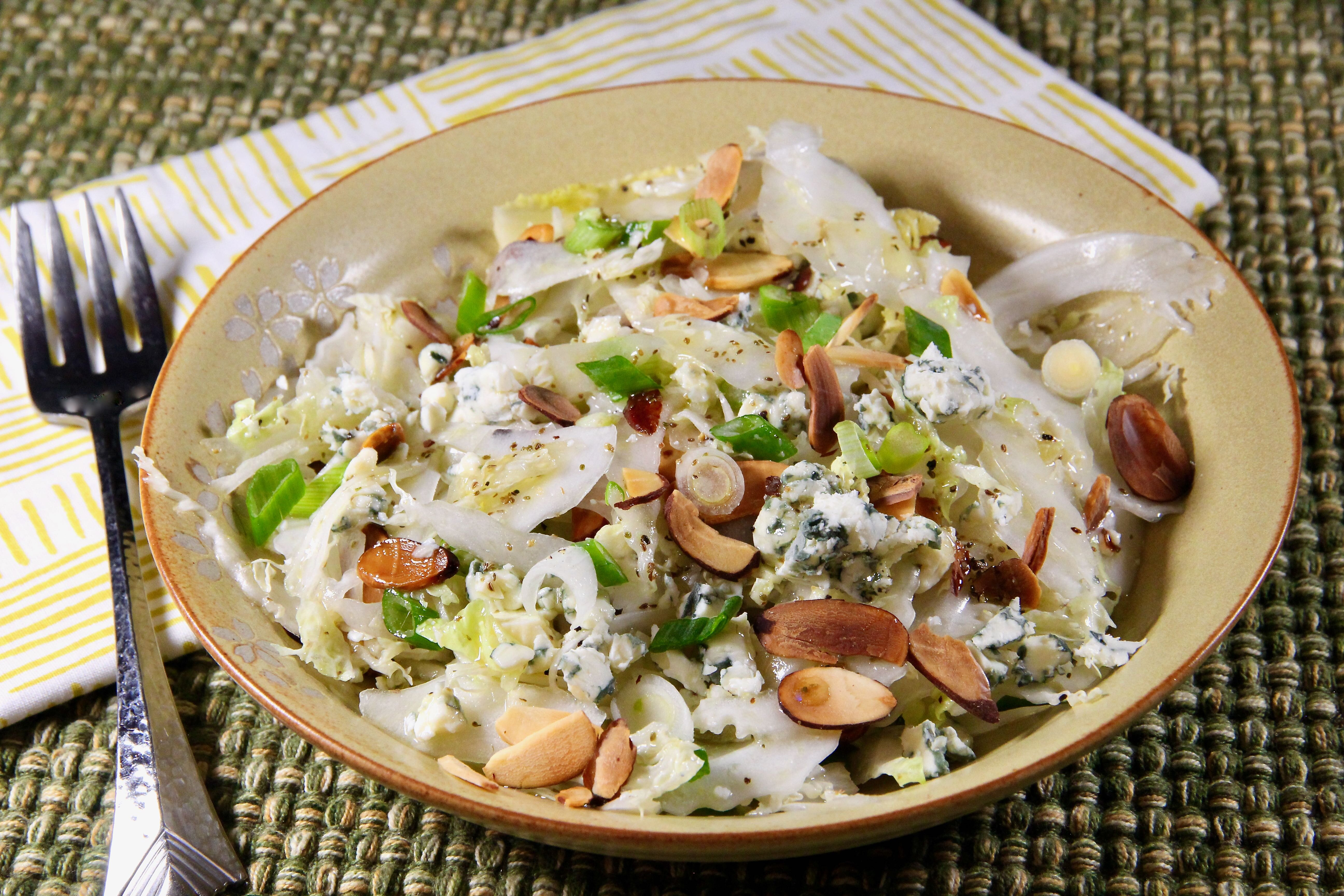 napa cabbage salad with blue cheese recipe