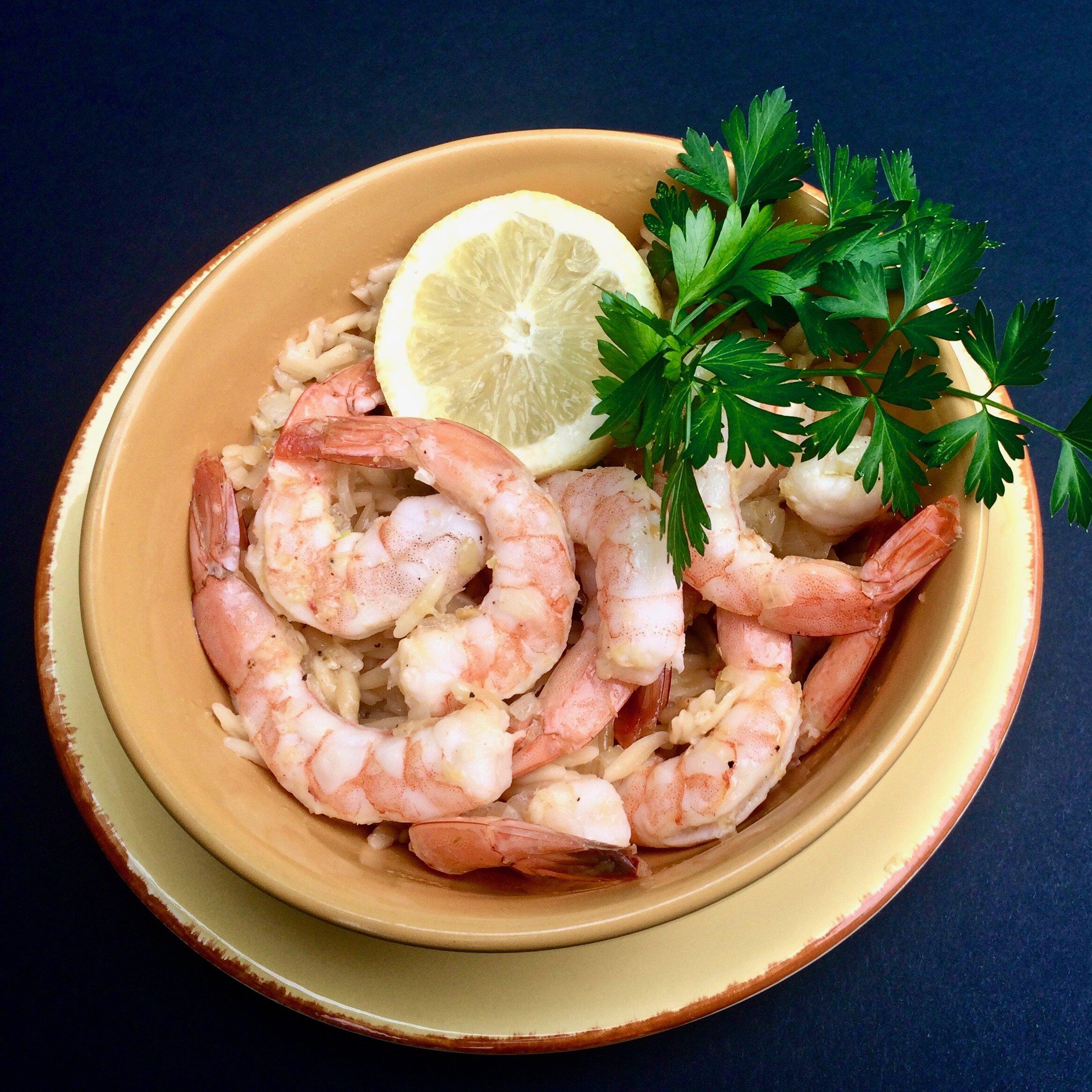 instant pot shrimp scampi orzo recipe