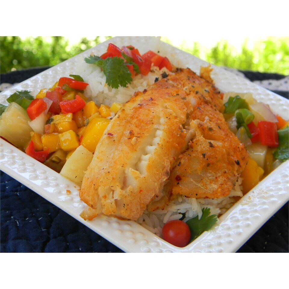 lawannas mango salsa on tilapia fillets recipe