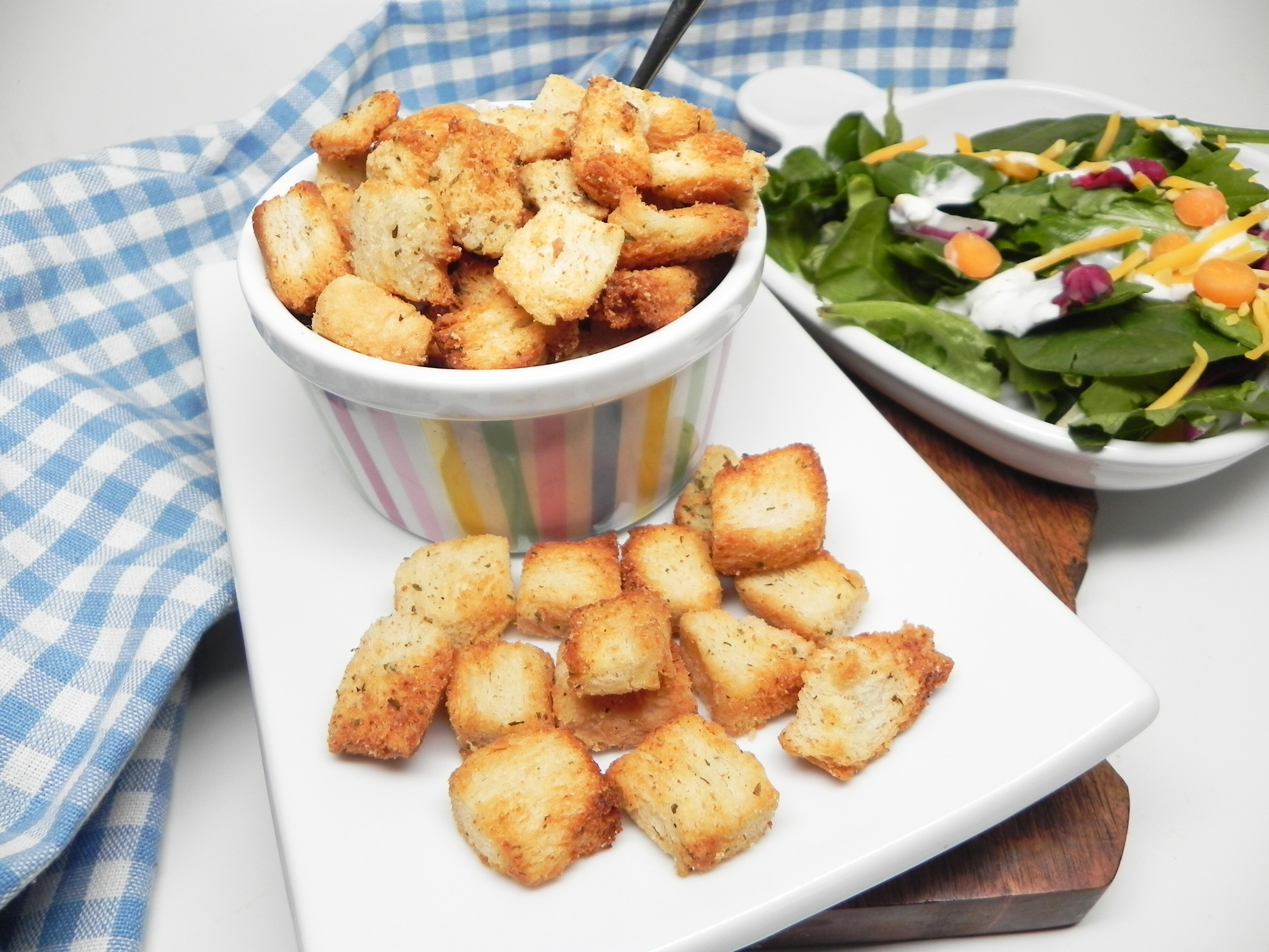 homemade croutons in the air fryer recipe