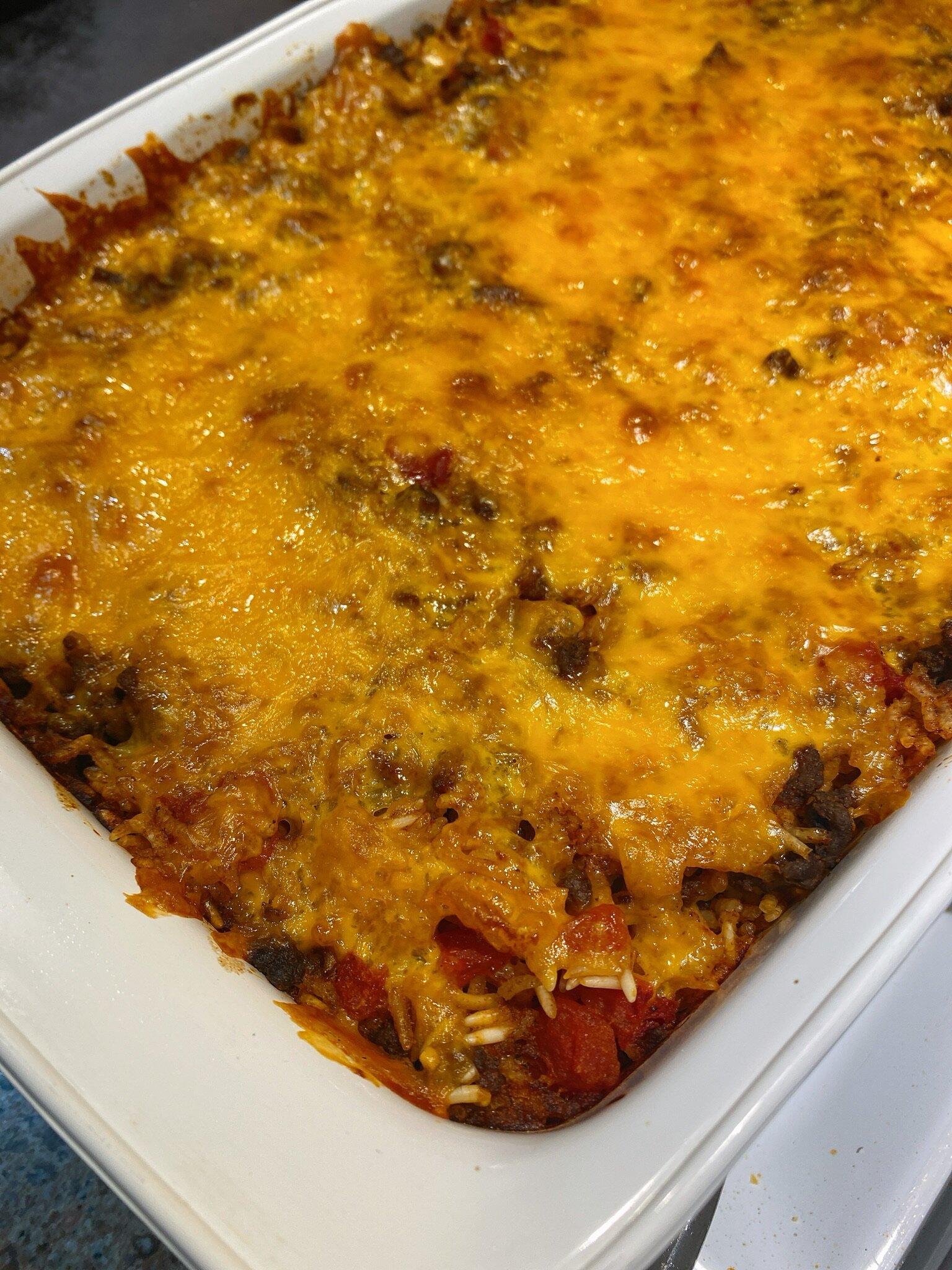 ground beef taco bake recipe