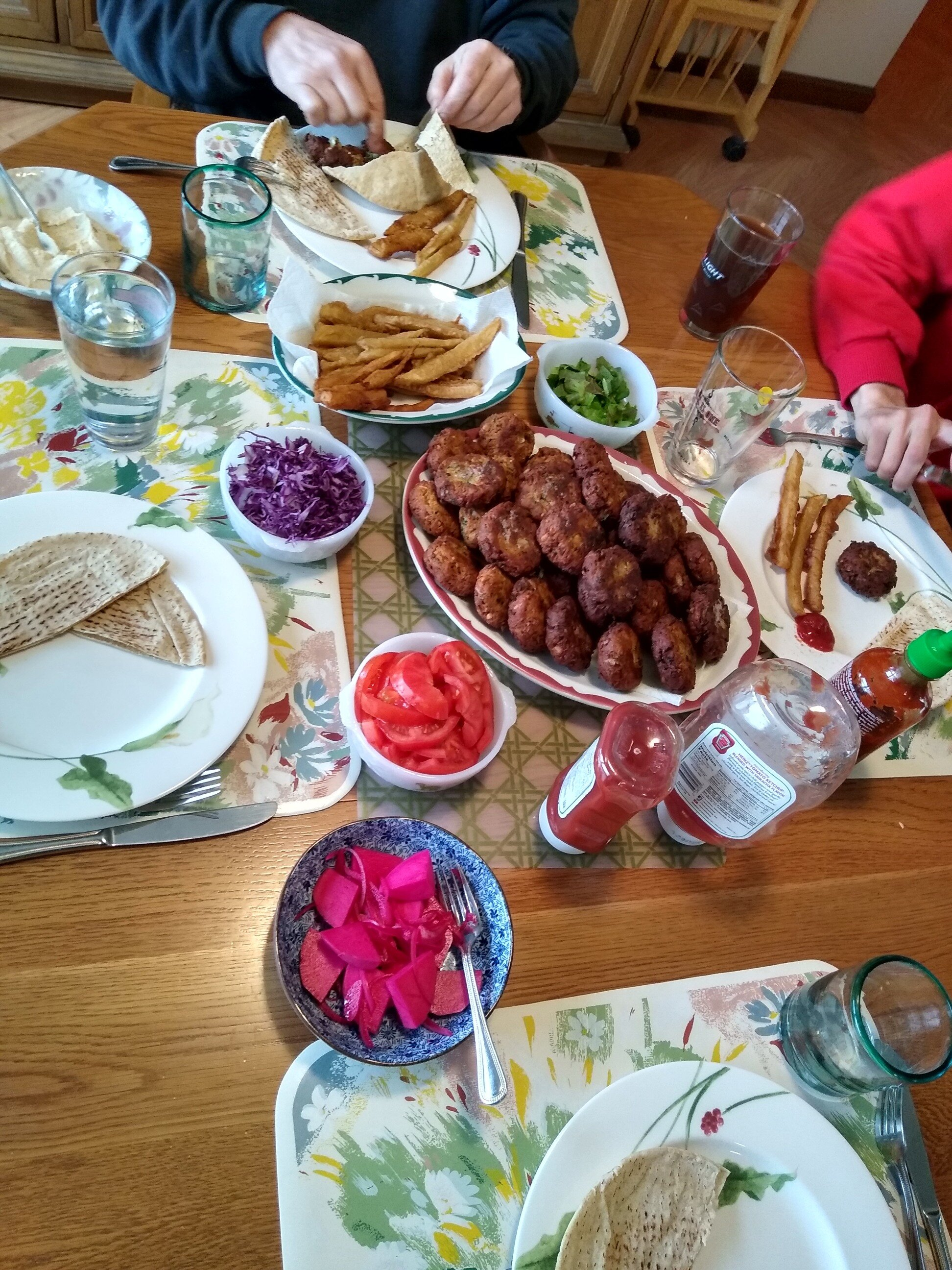 falafel with canned chickpeas recipe