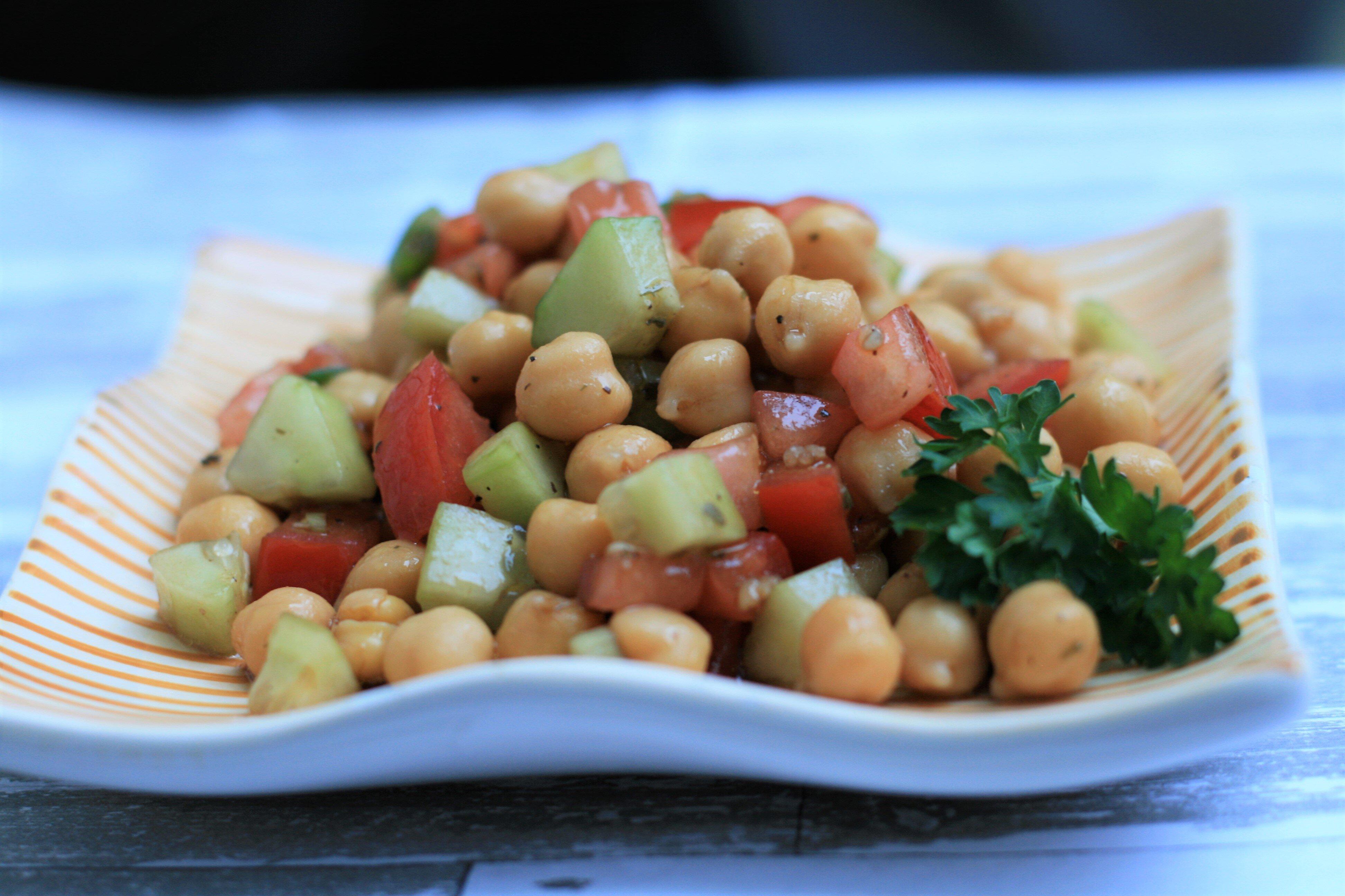 quick chickpea salad recipe