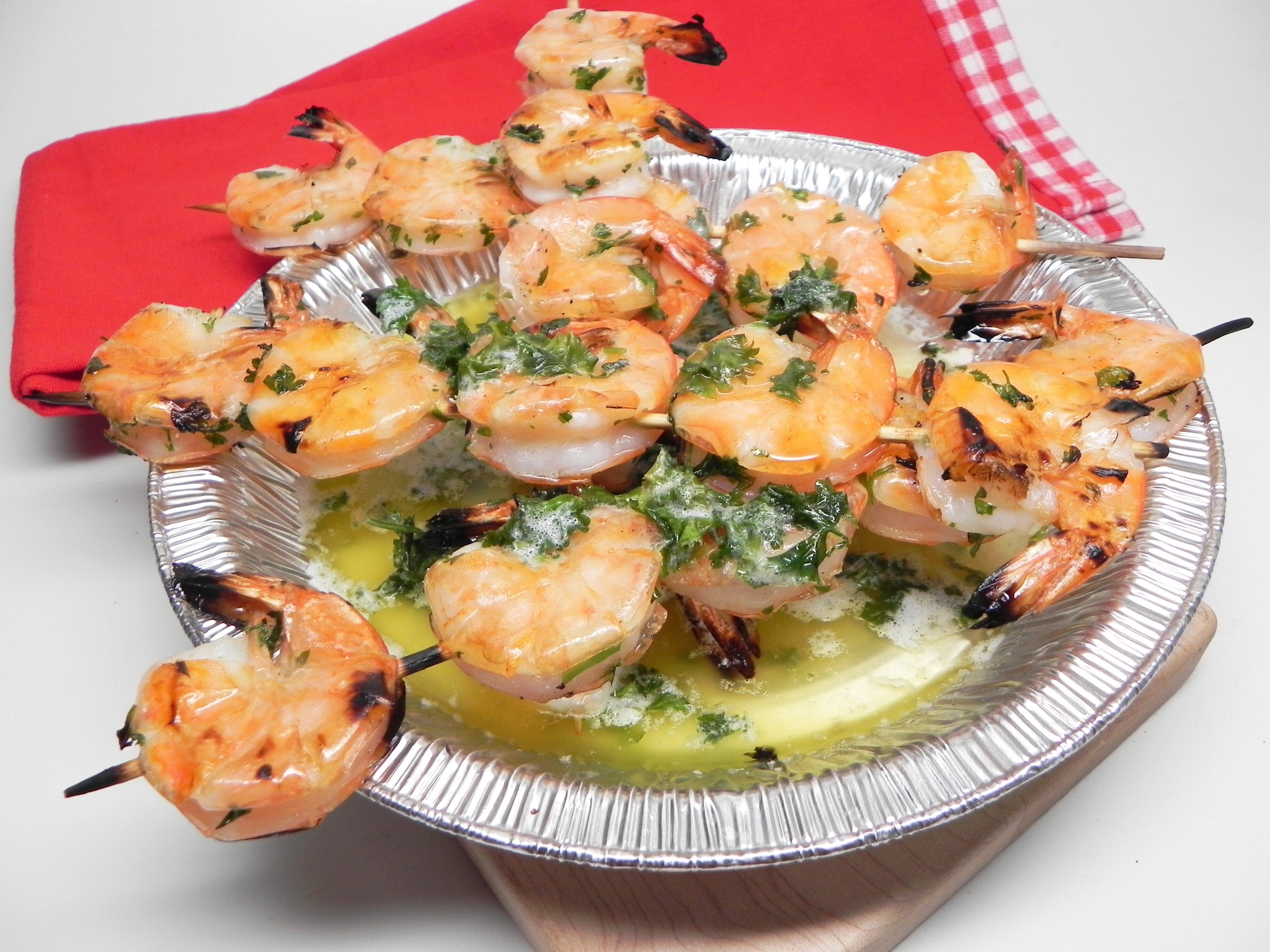 our backyard grilled garlic butter shrimp recipe