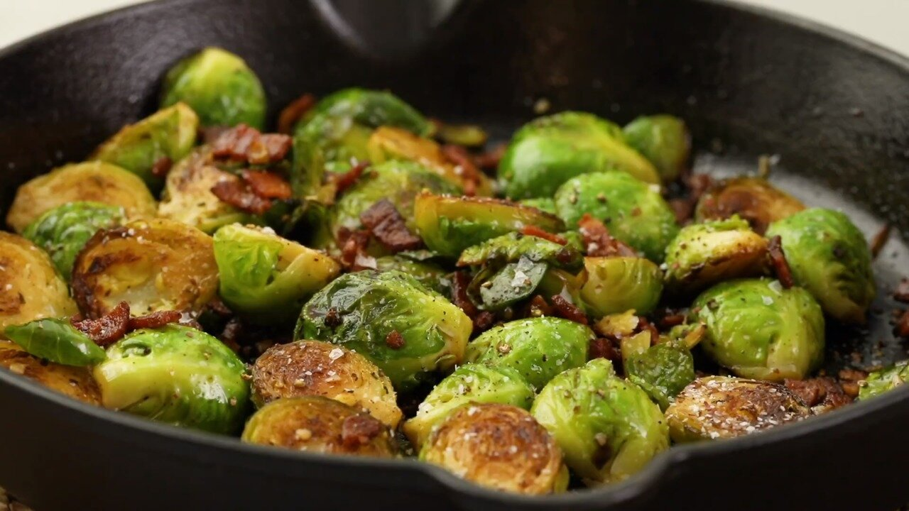 skillet braised brussels sprouts