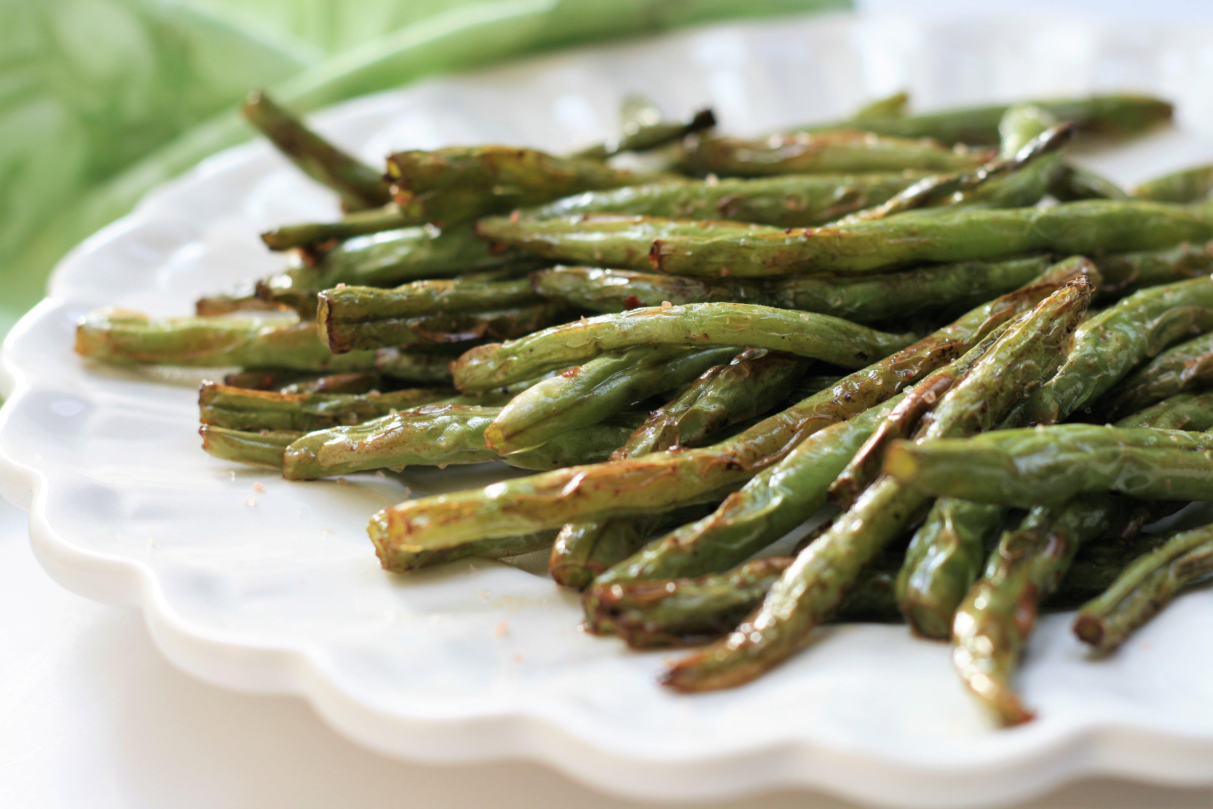air fryer spicy green beans recipe