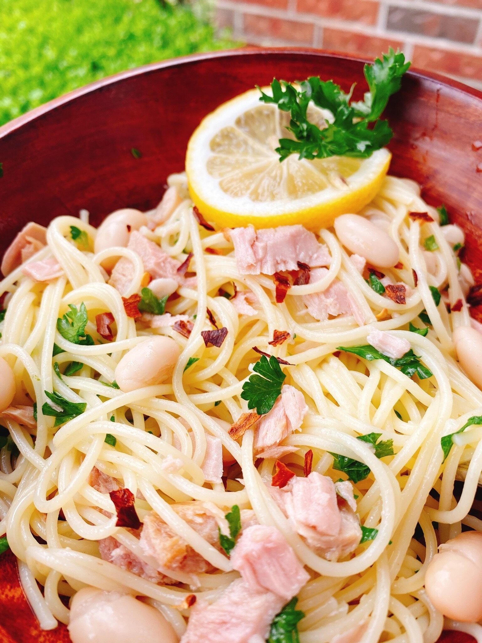 mediterranean tuna capellini recipe