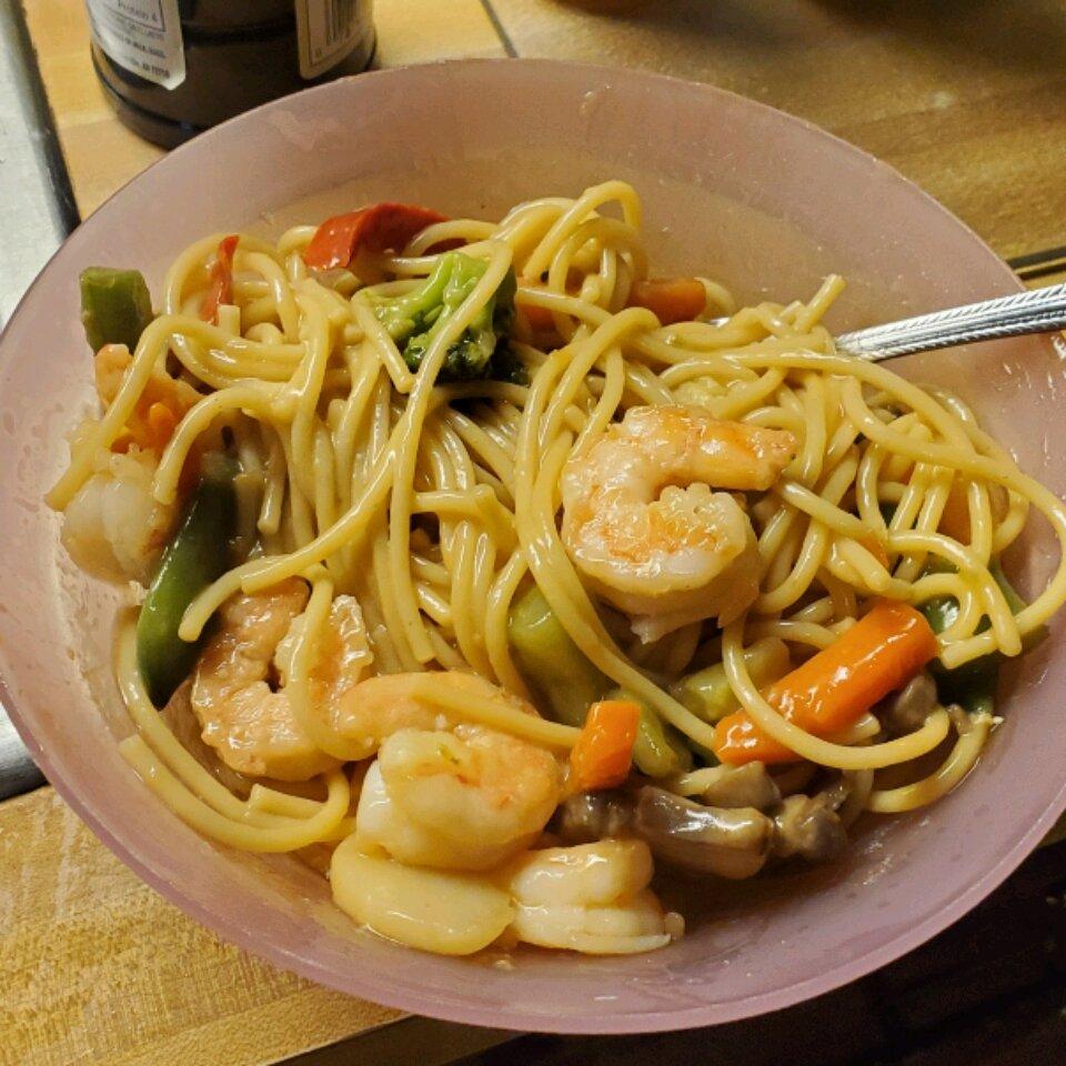 quick shrimp lo mein recipe