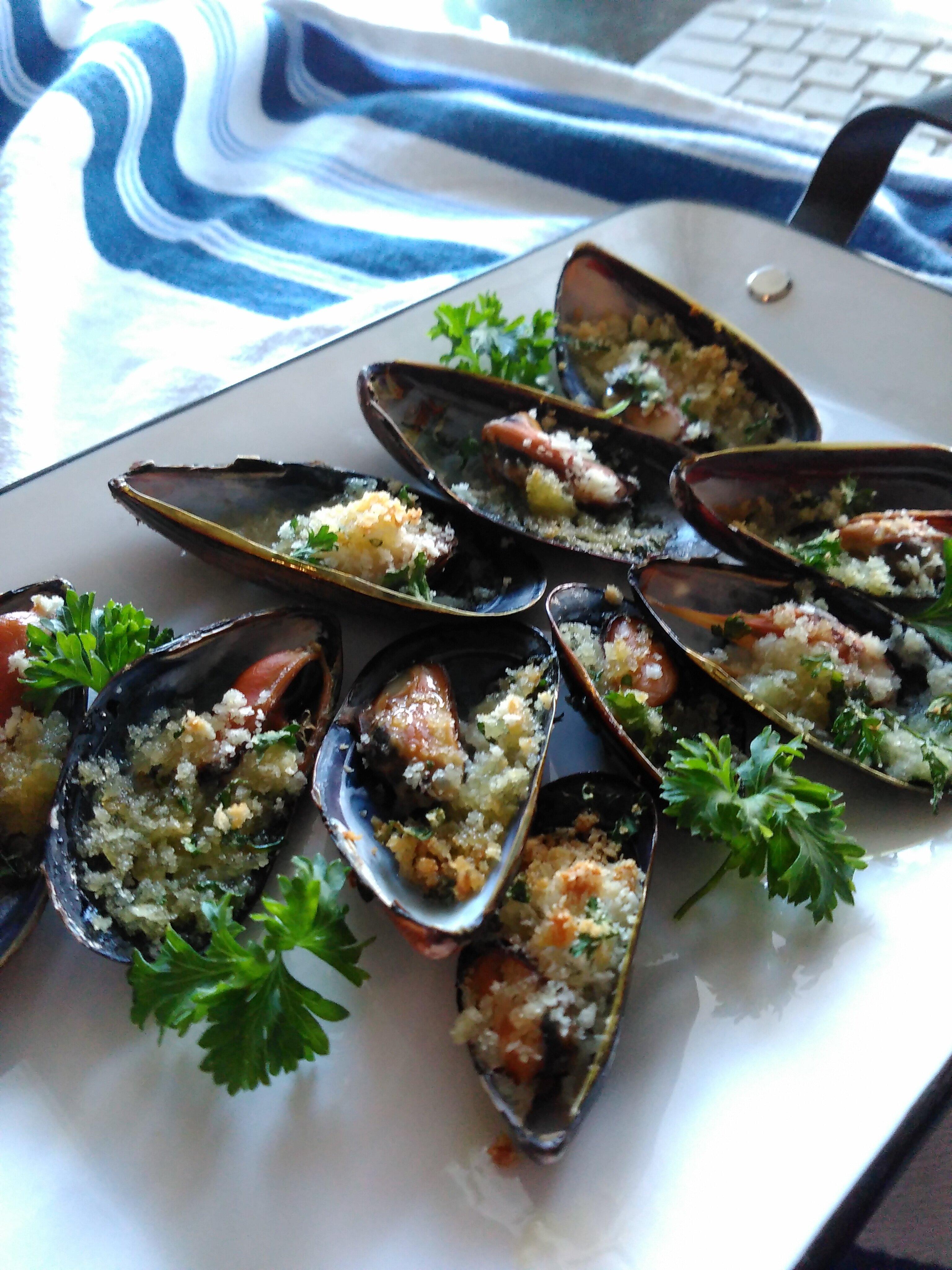 mussels au gratin recipe