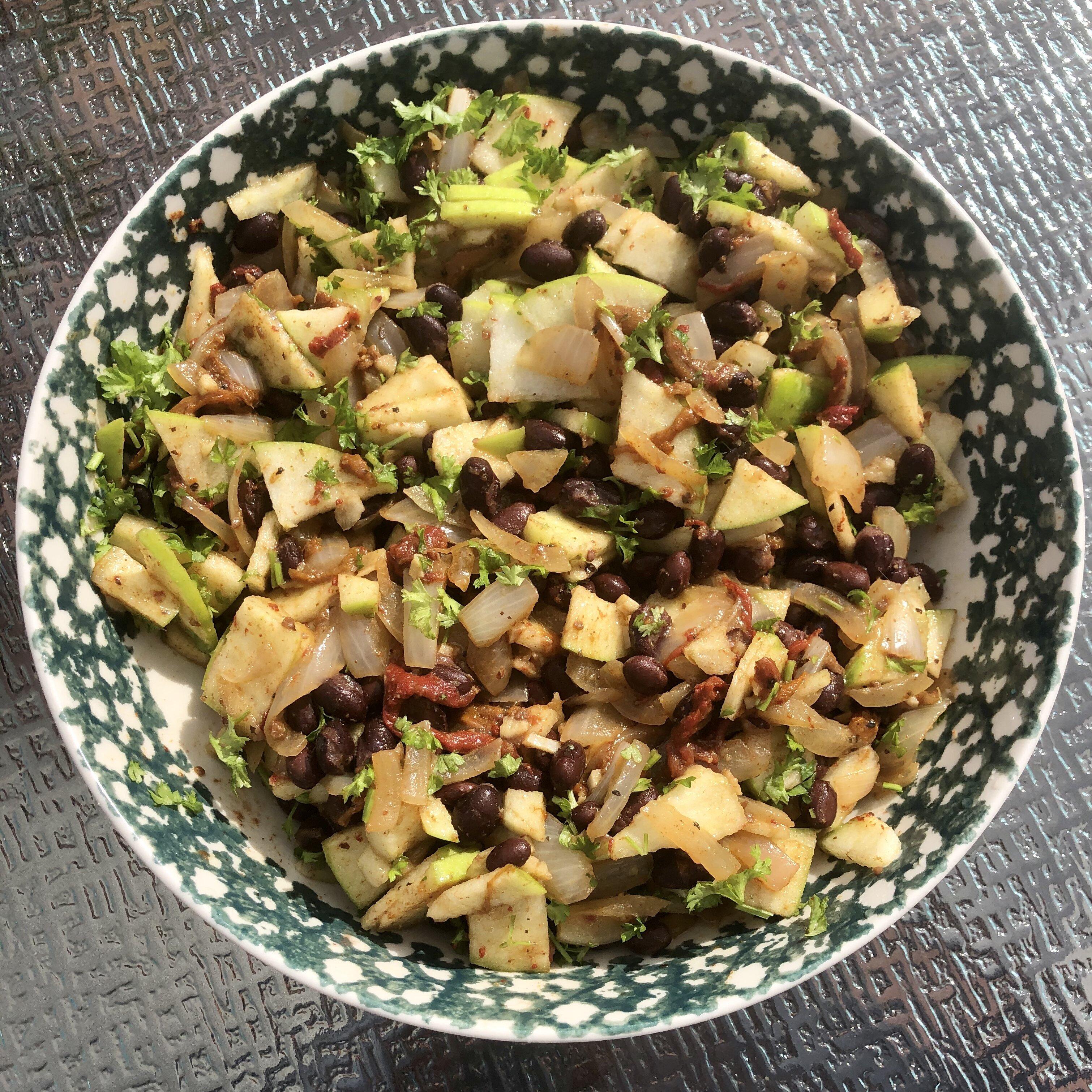 black bean and granny smith apple salad recipe