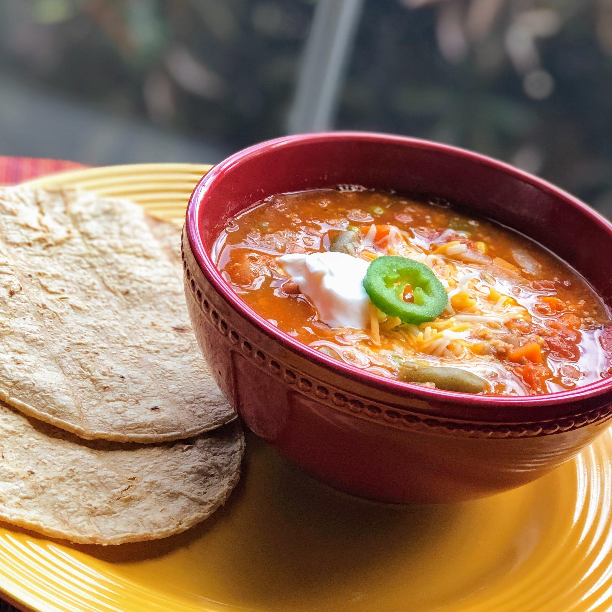 easy turkey taco soup recipe