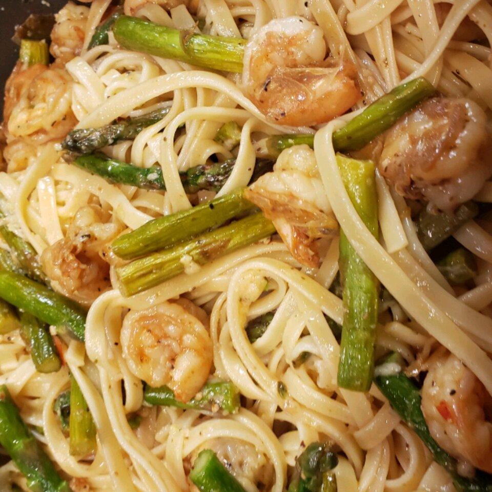 shrimp and asparagus fettuccine recipe