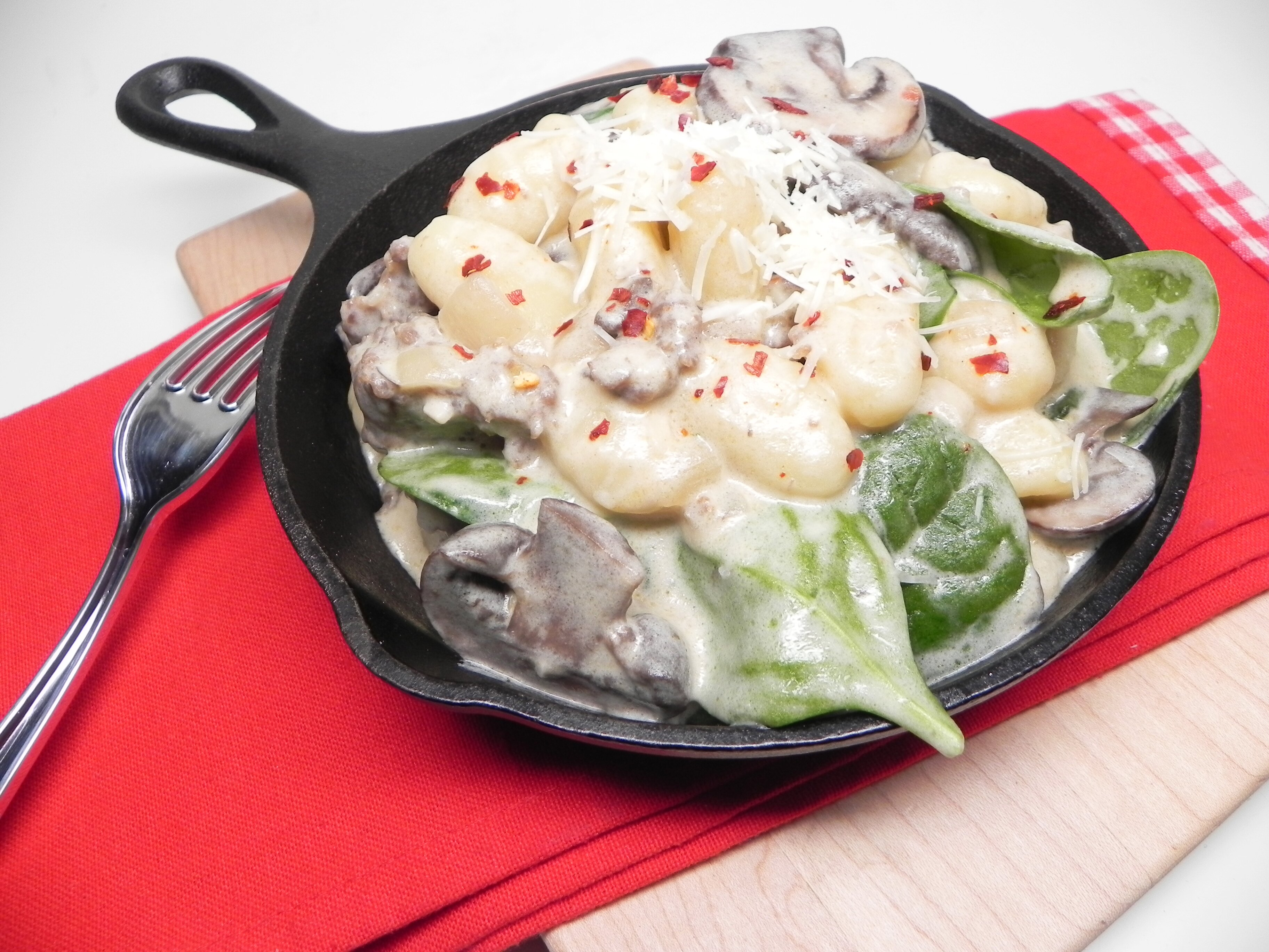 creamy gnocchi and sausage skillet recipe