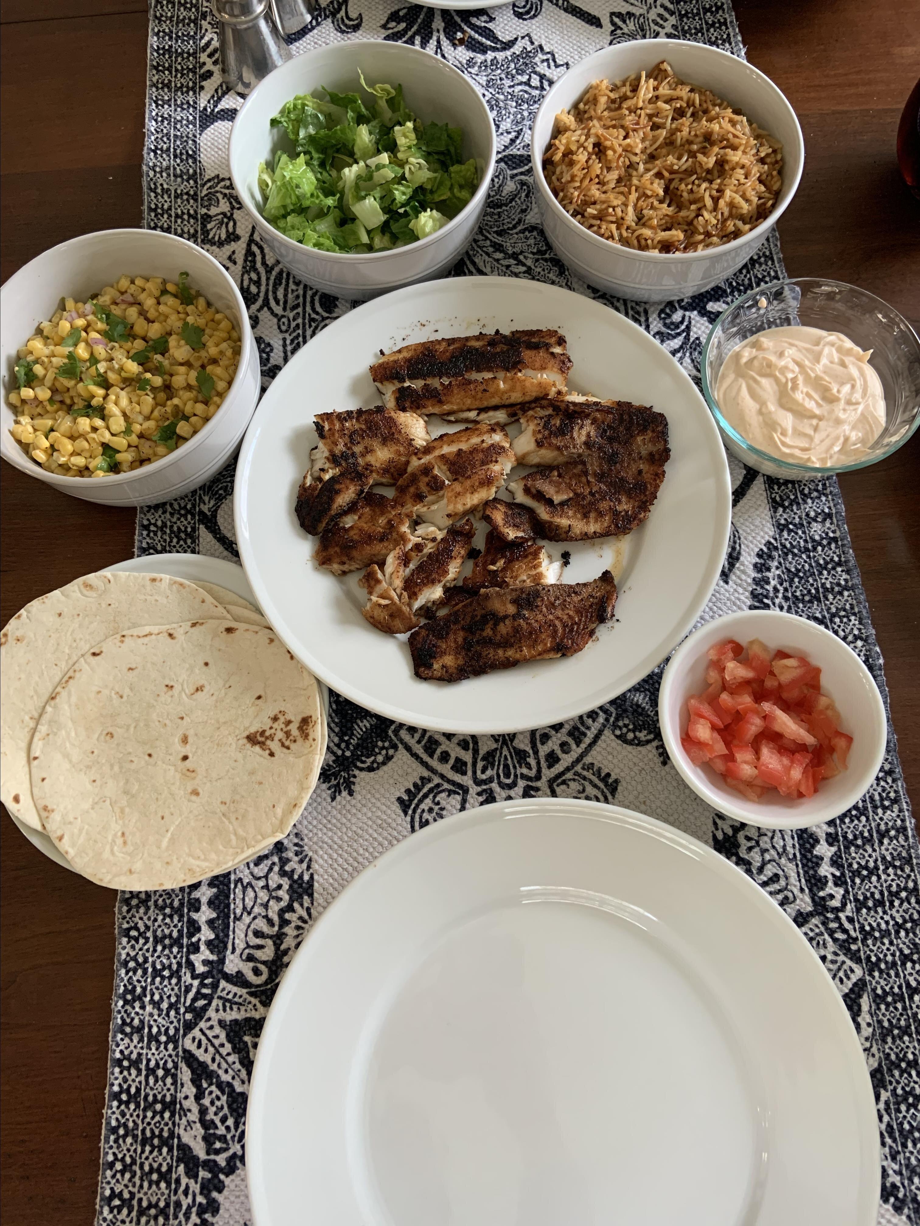 blackened tilapia fish tacos recipe