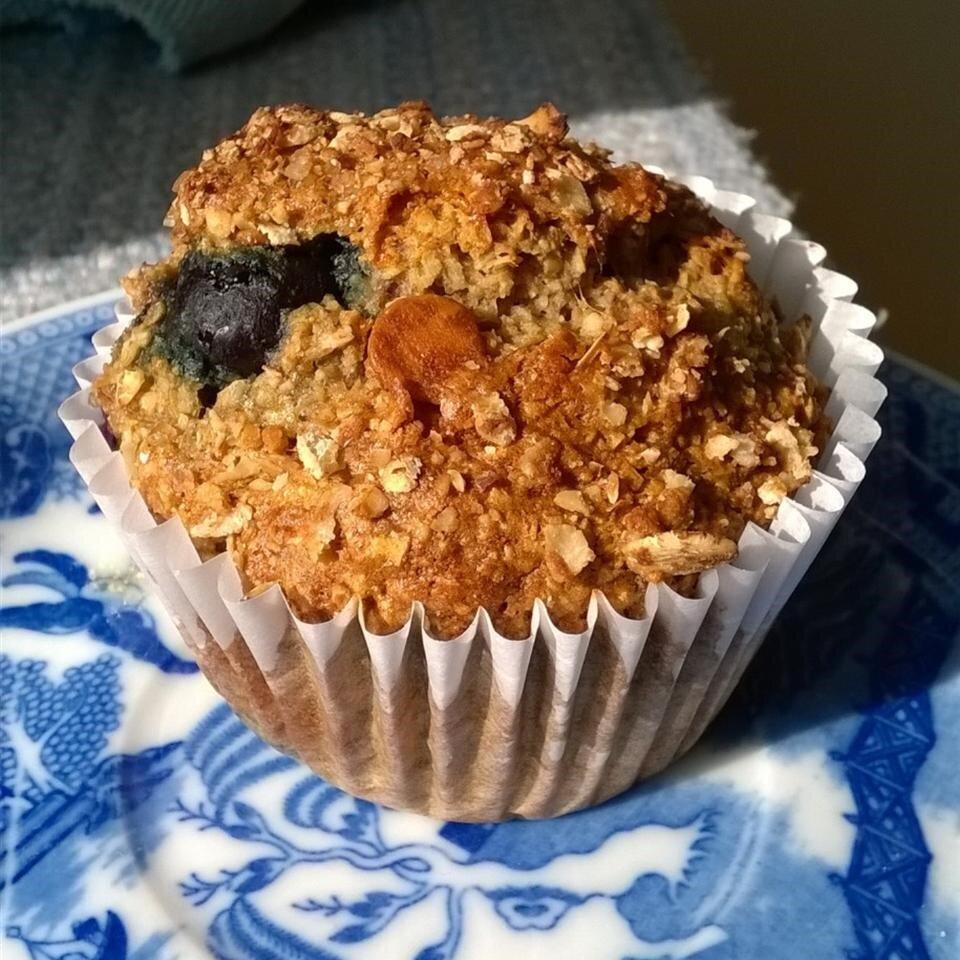blueberry nut oat bran muffins recipe