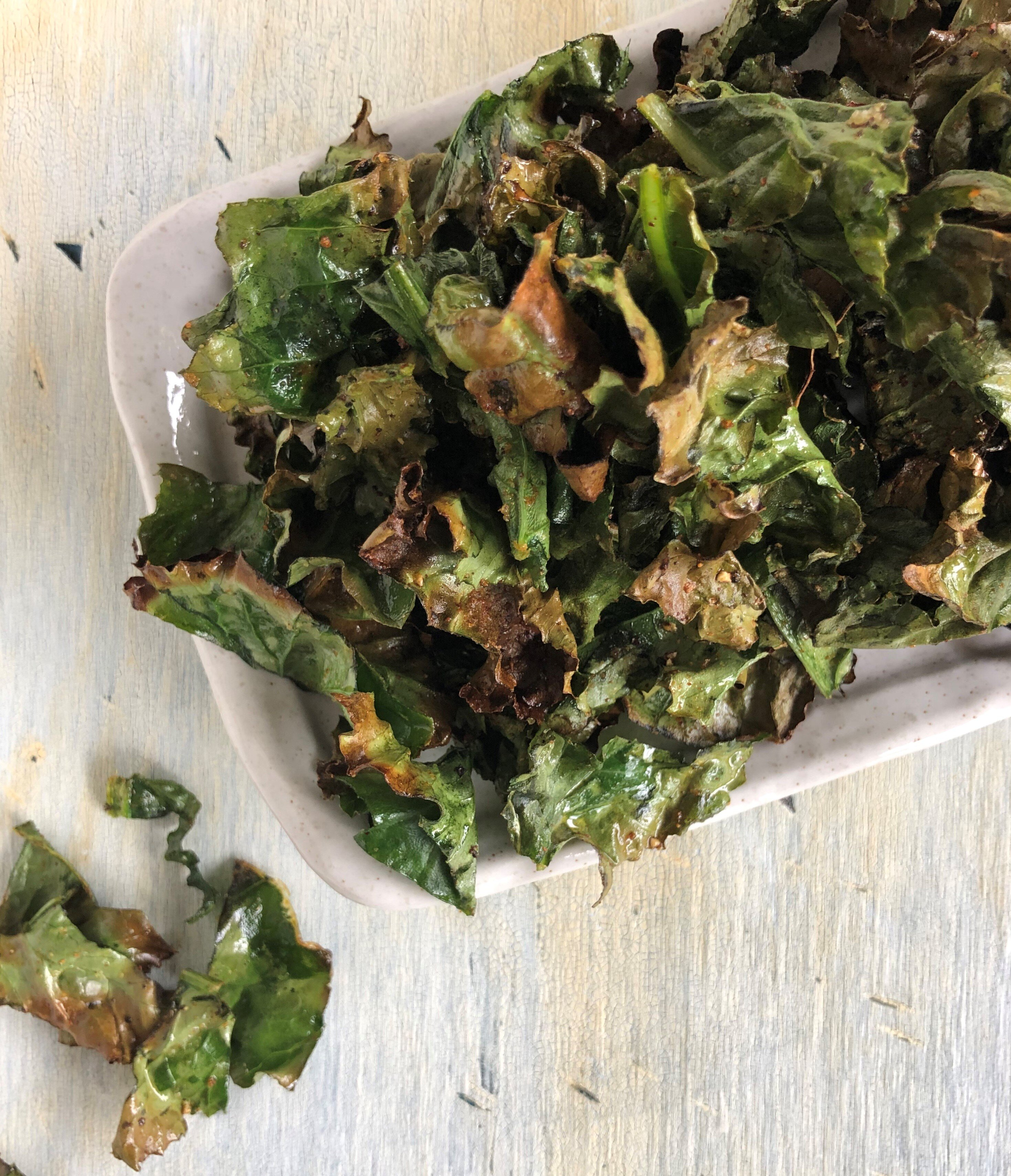 air fried kale chips recipe