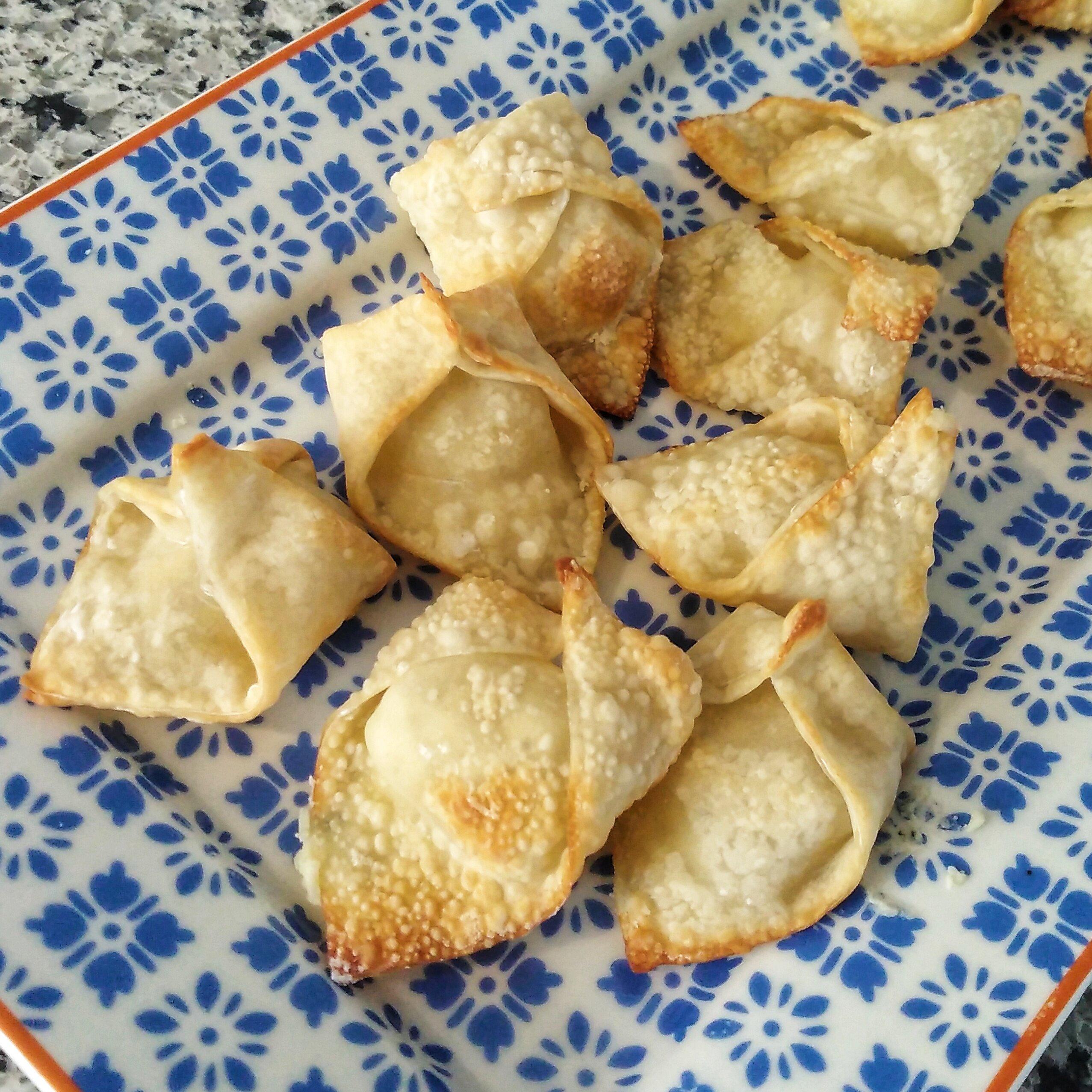air fryer boursin stuffed wontons recipe