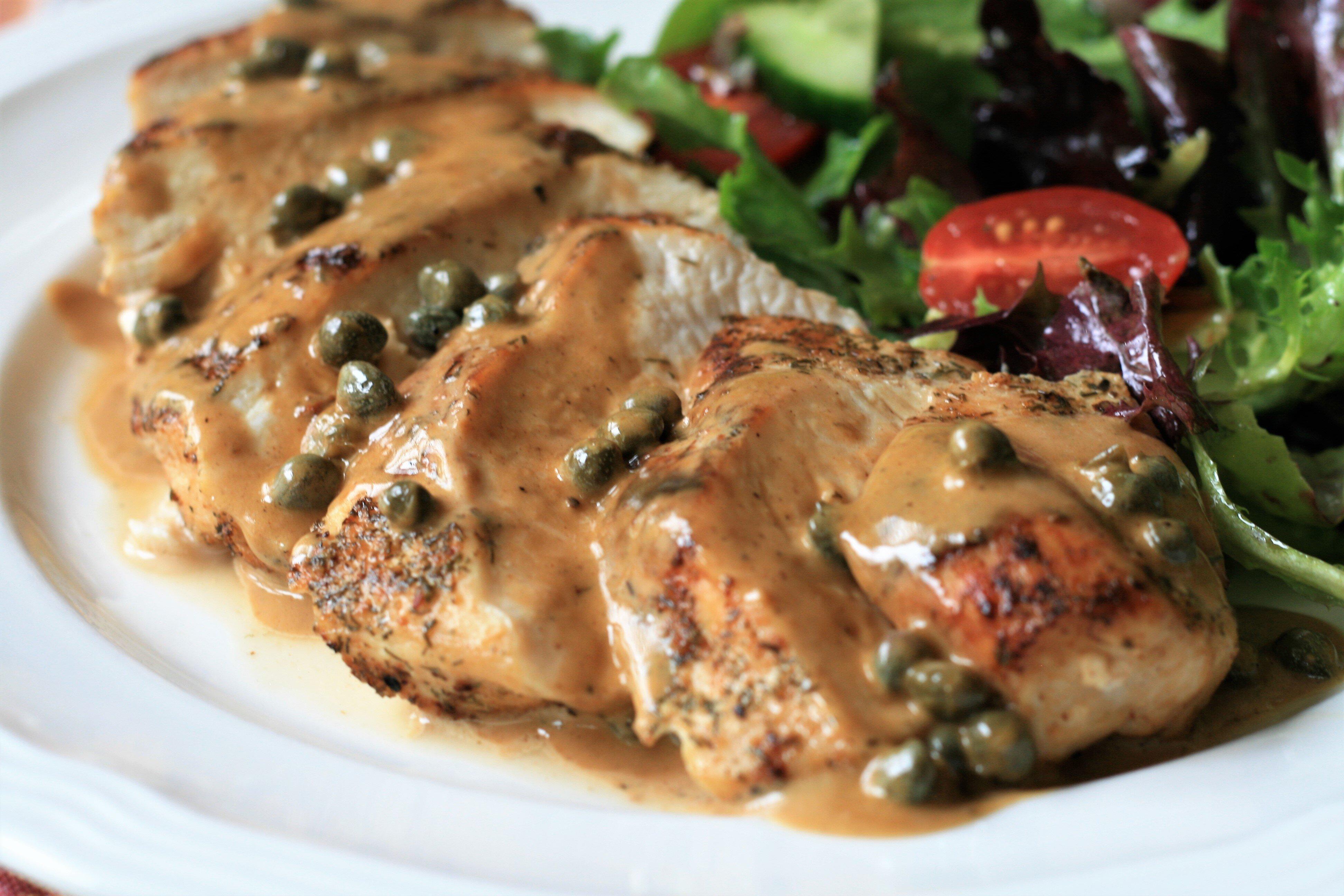 chicken breasts in caper cream sauce recipe