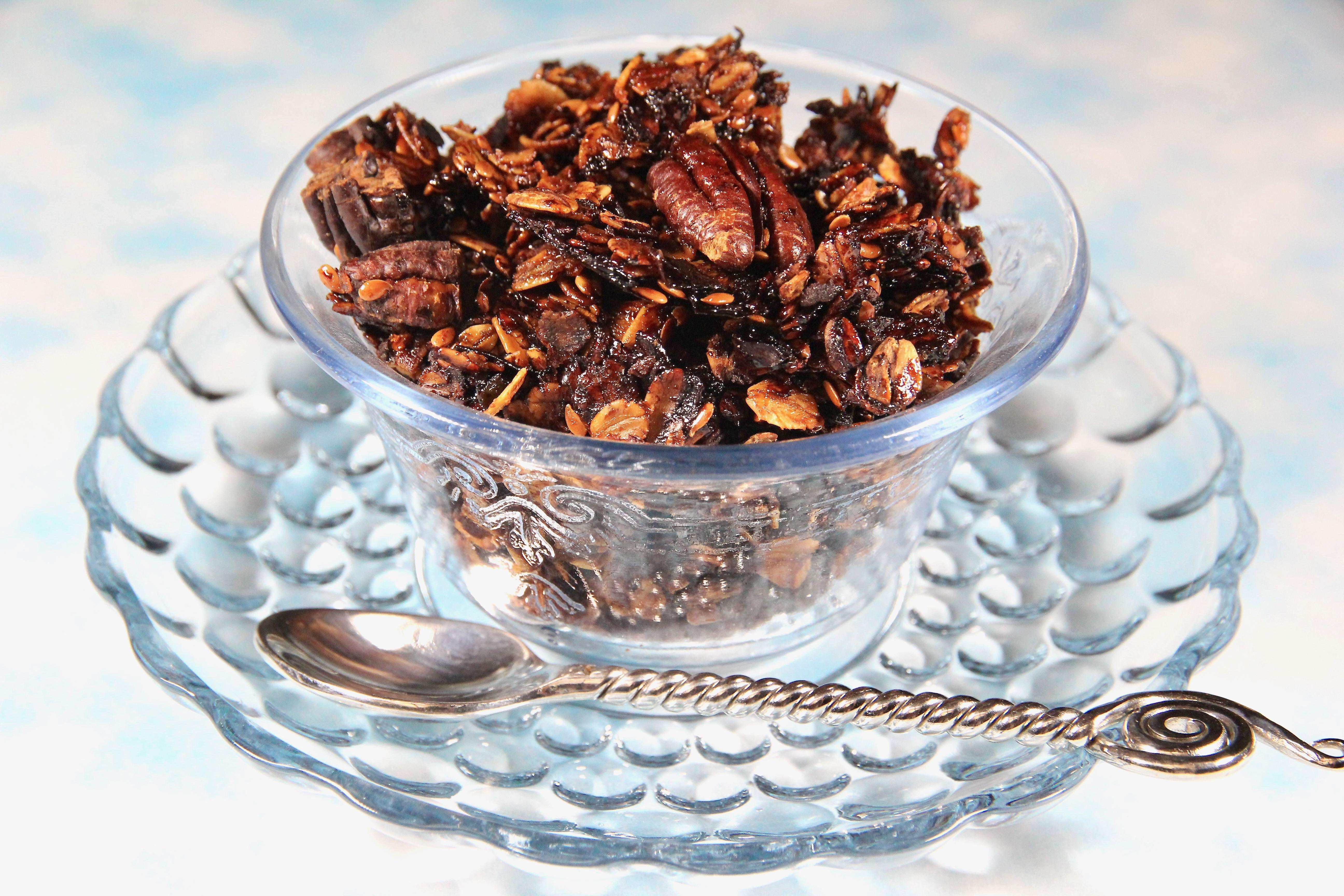 dark honey pecan granola recipe