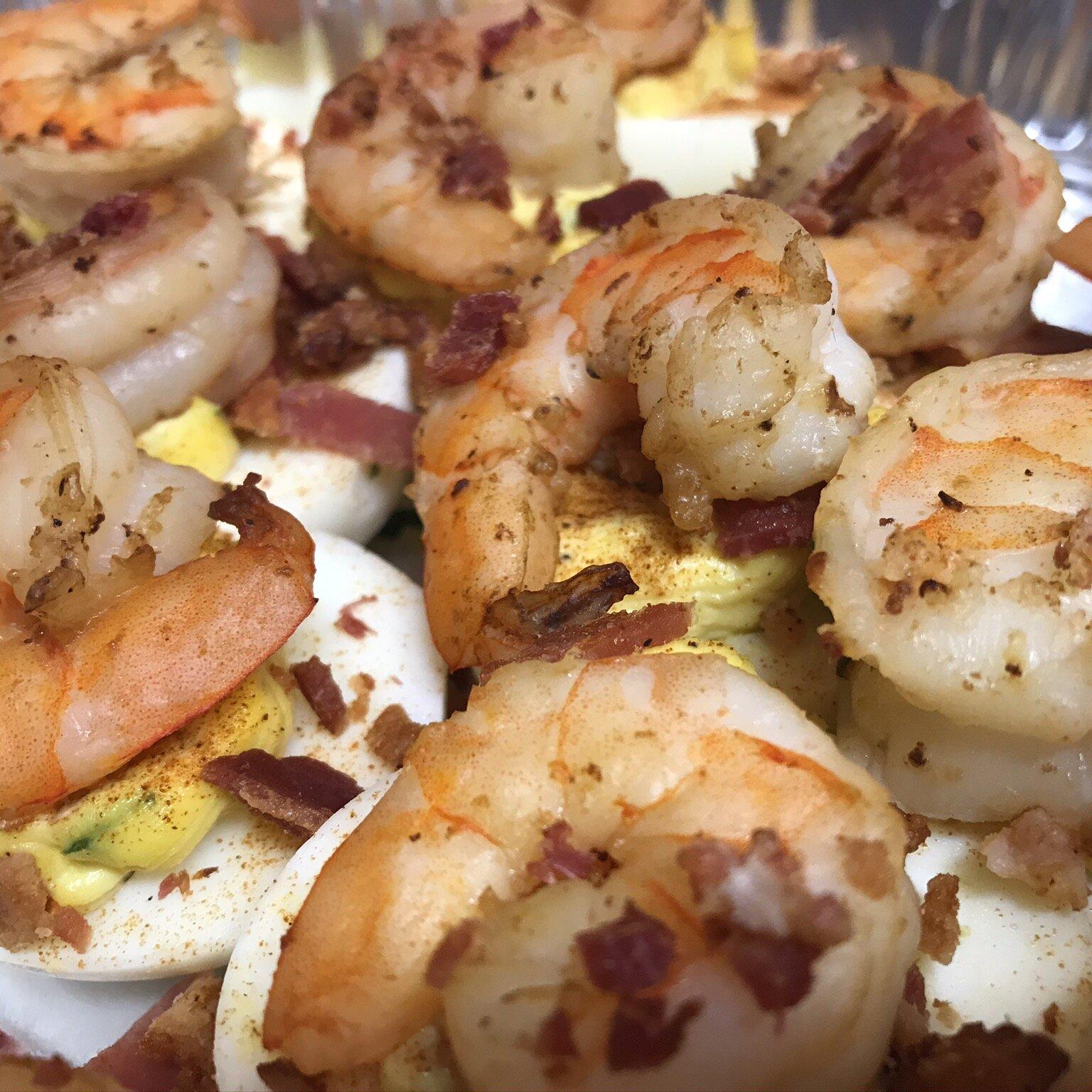 shrimp and bacon deviled eggs recipe