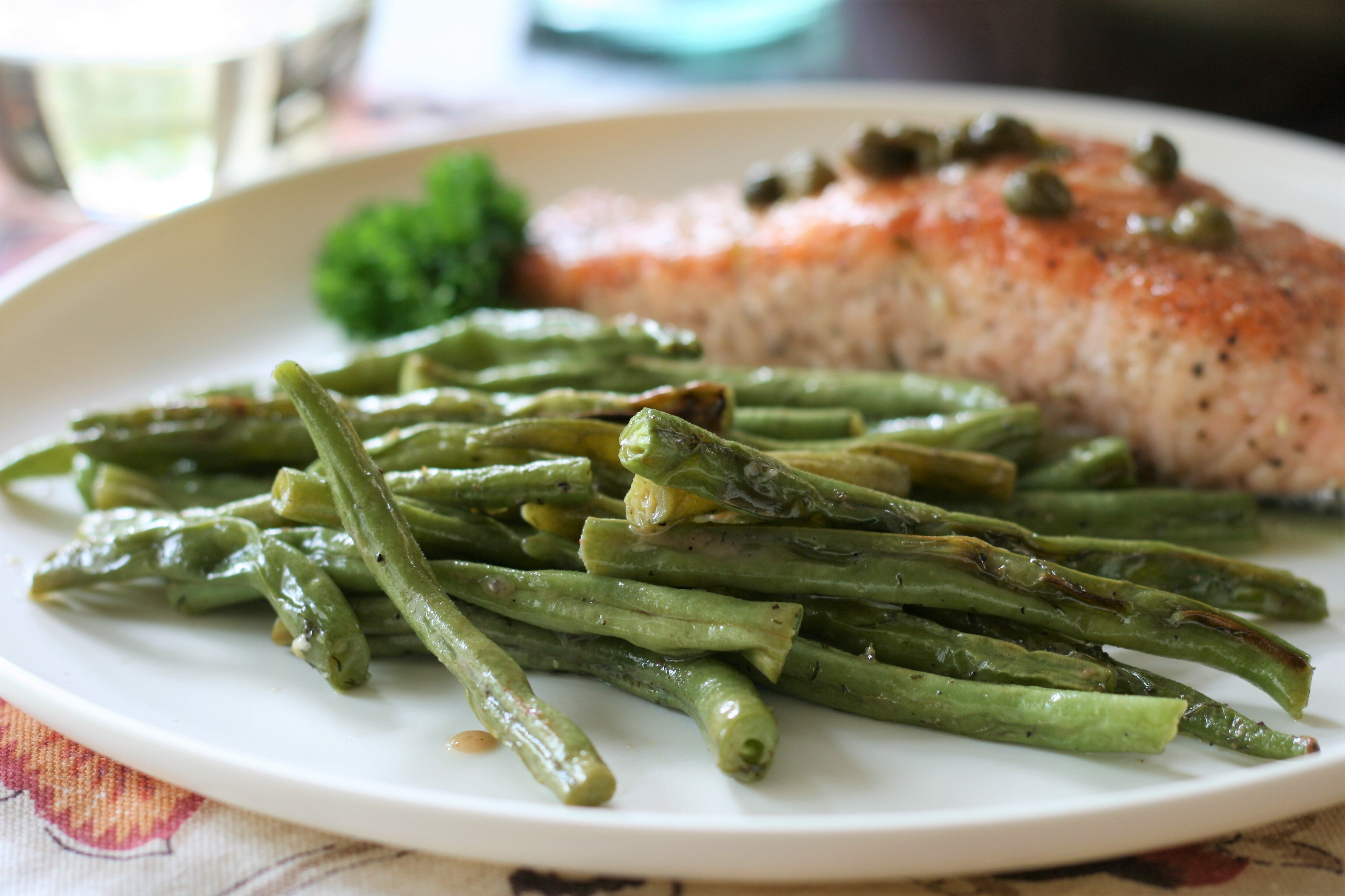 roasted green beans with dill vinaigrette recipe