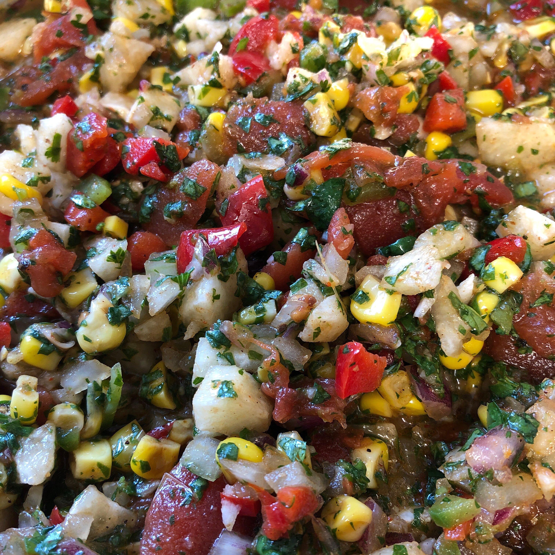 blackened corn and jicama pico de gallo recipe