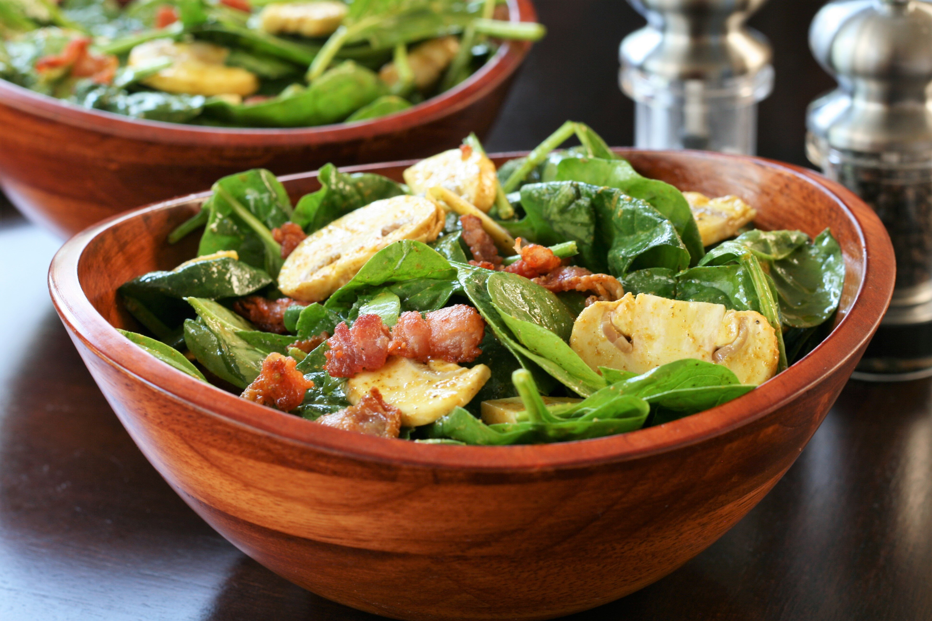 spinach salad with curry vinaigrette recipe